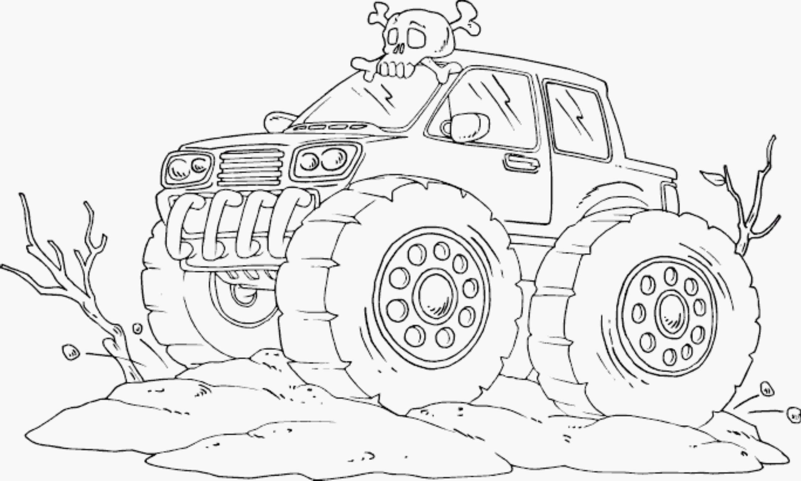 bigfoot monster truck coloring pages - Monster Truck Coloring Page