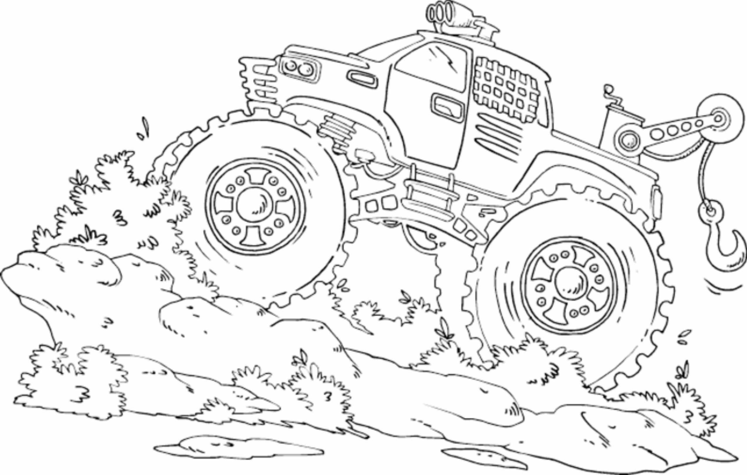 blue-thunder-monster-truck-coloring-pages ...