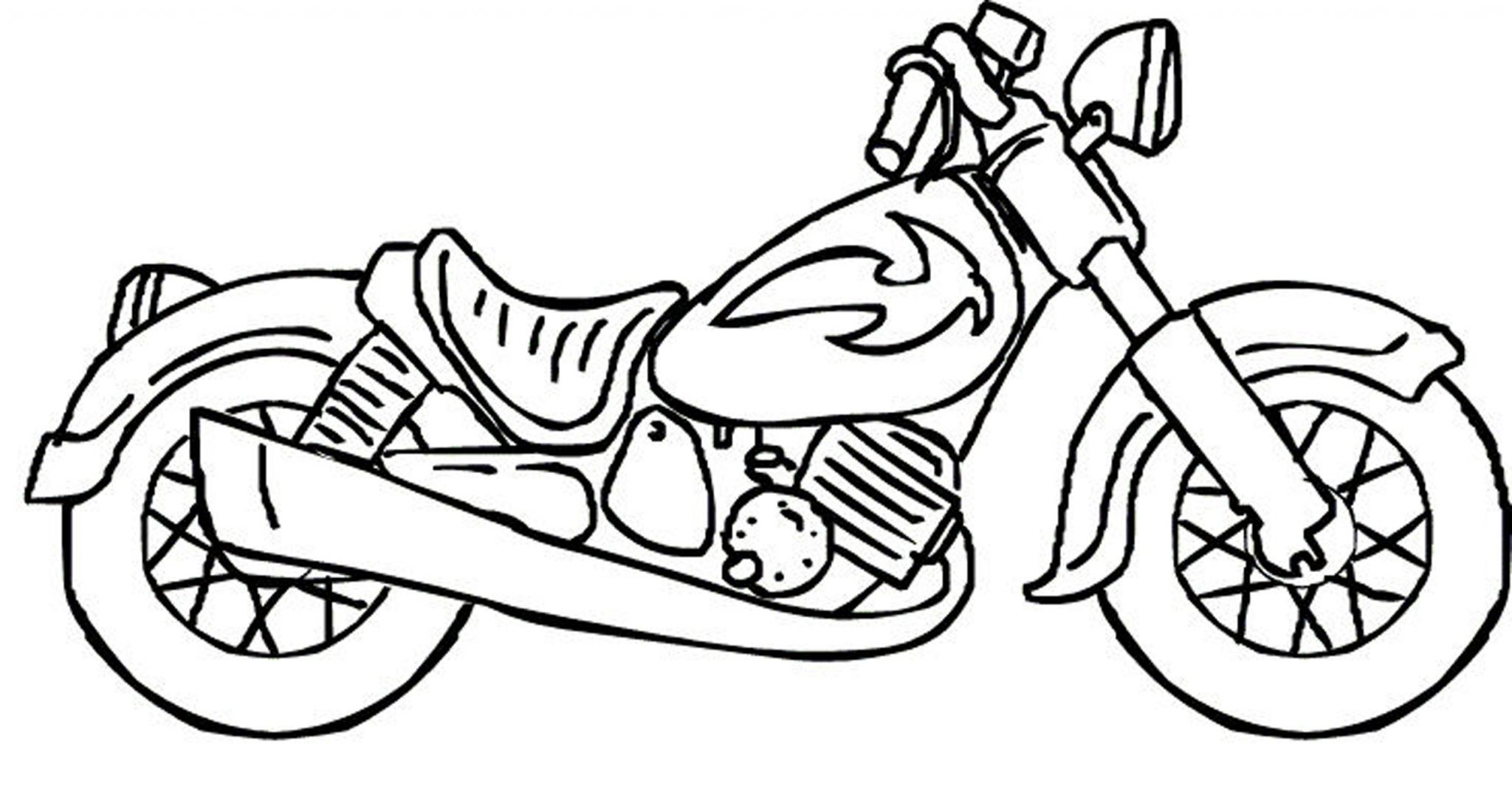 boy-coloring-pages-for-kids-motorcycle | | BestAppsForKids.com