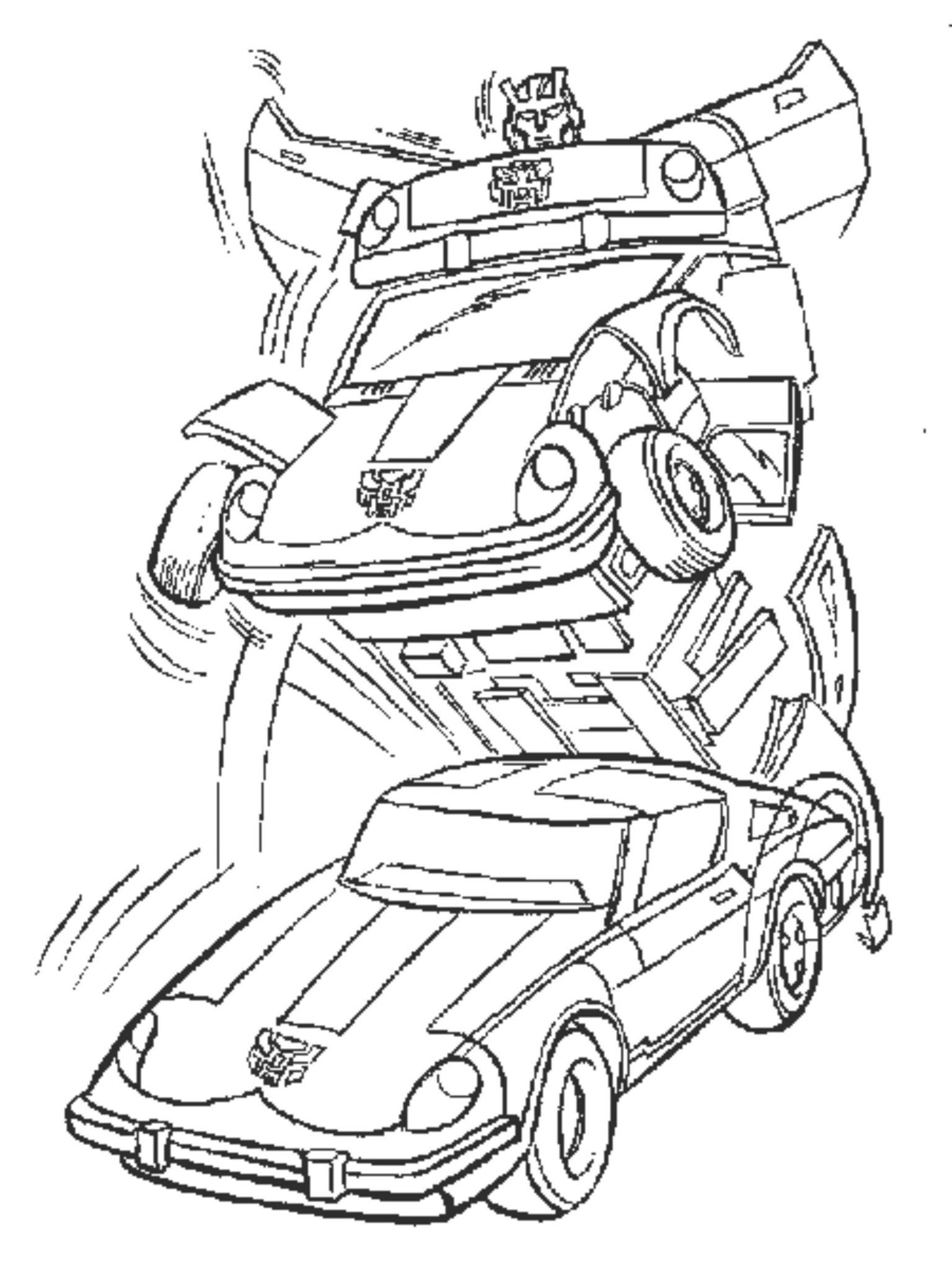 transformer bumblebee car coloring pages - photo#12