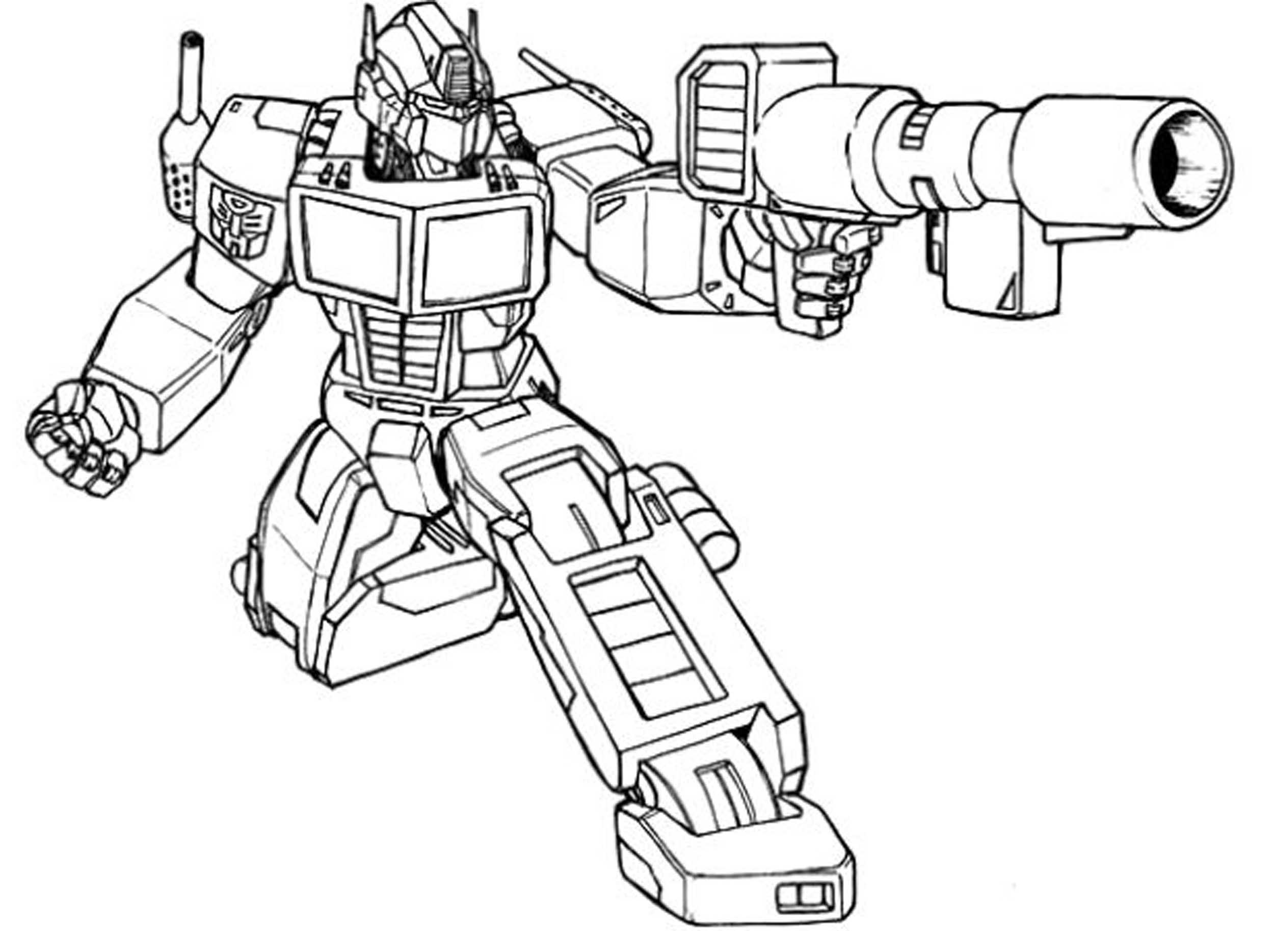 transformer coloring pages free - photo#21