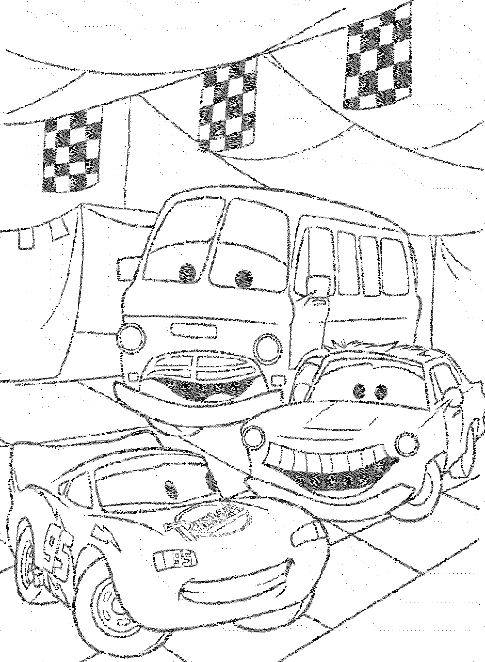 coloring pages of the movie cars | Print & Download - Kids Cars Coloring Pages