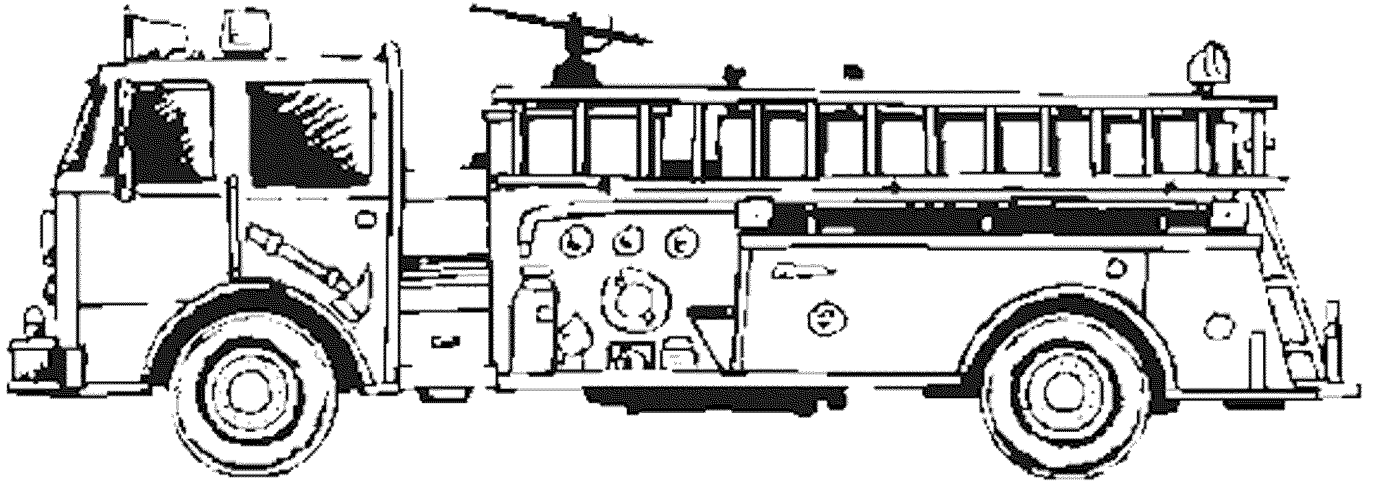 Cartoon Fire Truck Coloring Pages