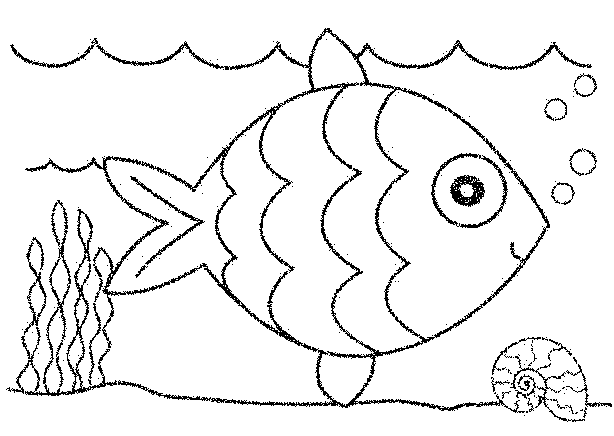 Print download cute and educative fish coloring pages for Color pages of fish