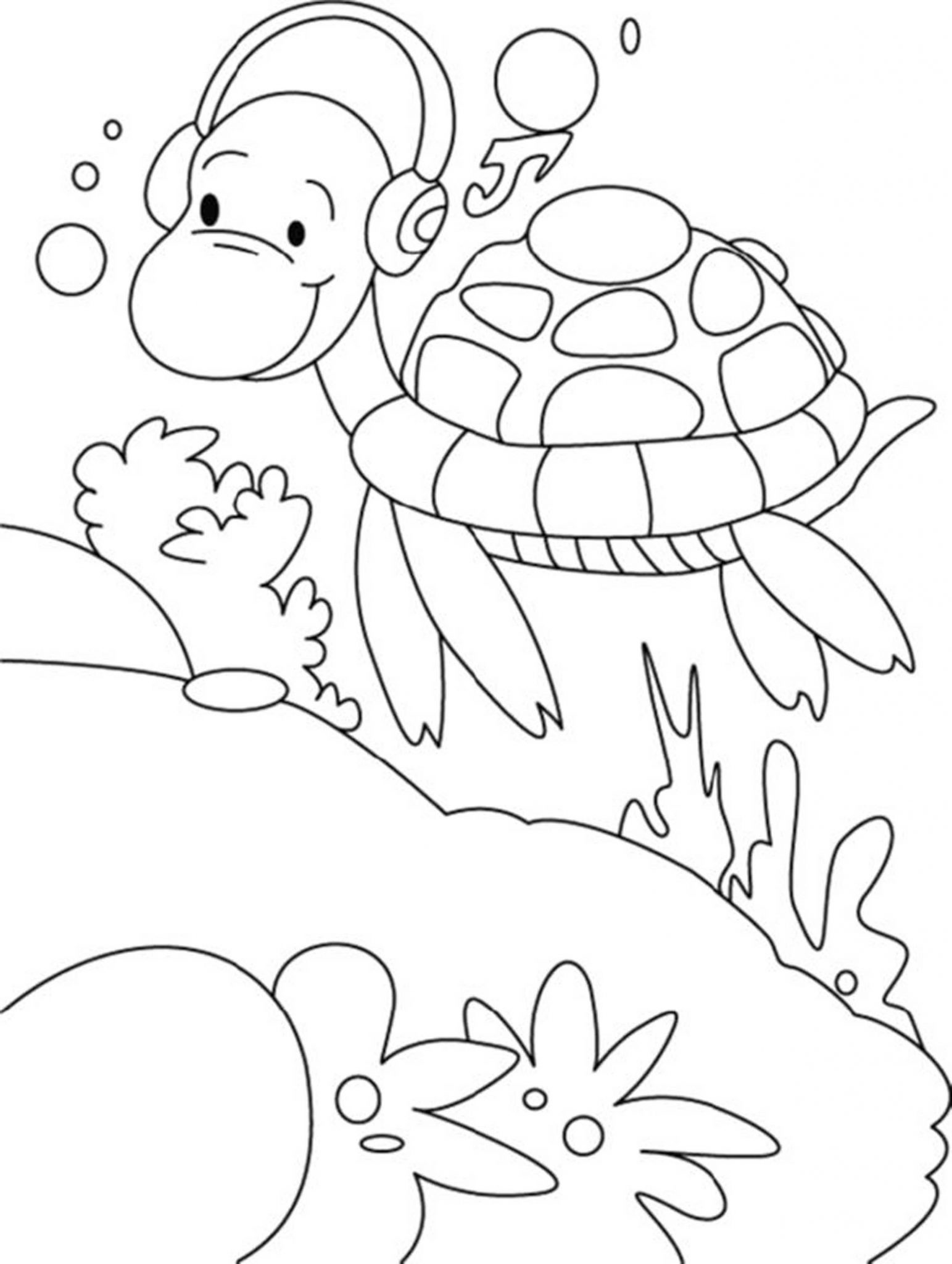 turtle cartoon coloring pages - photo#29