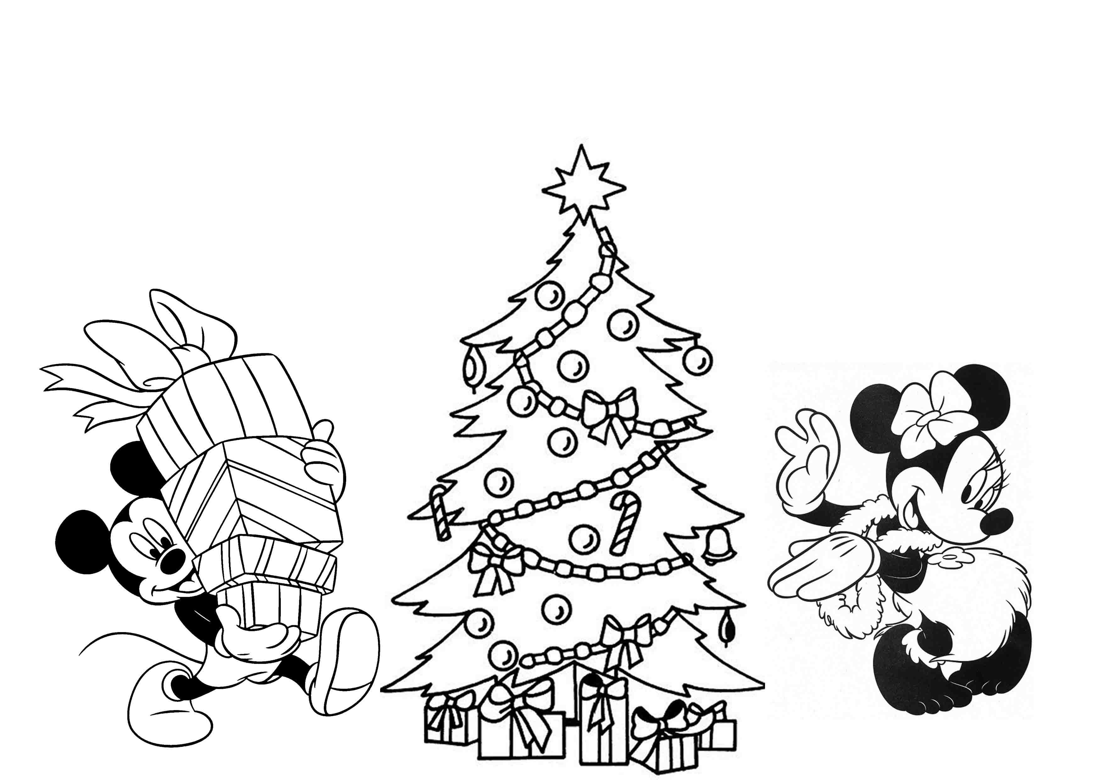 Print download printable christmas coloring pages for kids for Disney christmas printable coloring pages