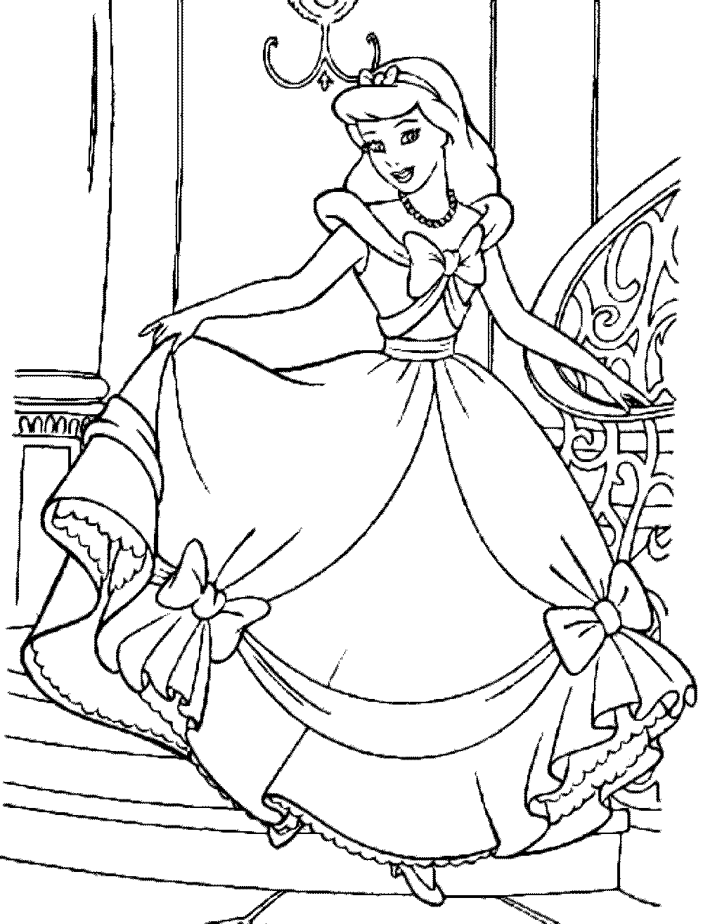 cinderella coloring pages free bestappsforkids com