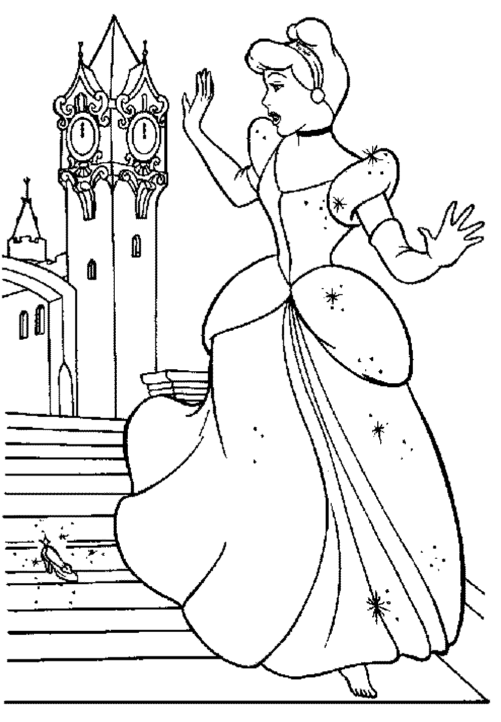 Print & Download - Impressive Cinderella Coloring Pages ...