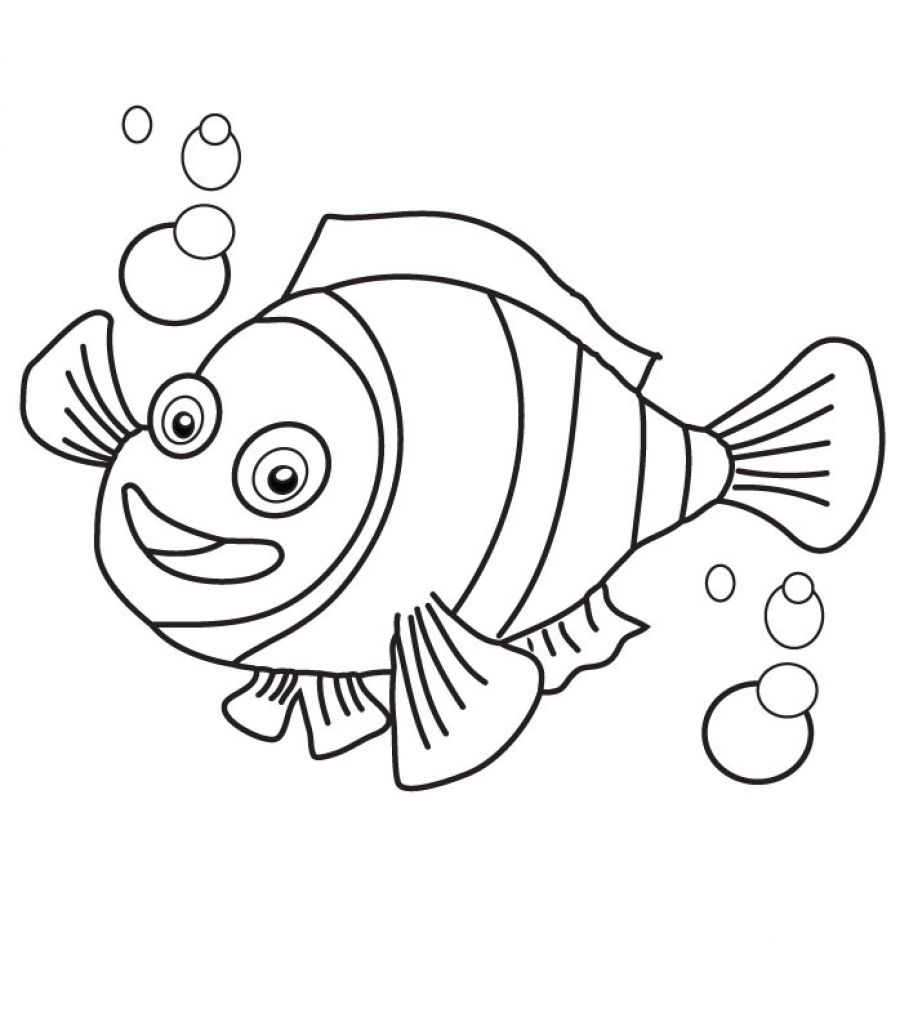 clown fish coloring pages