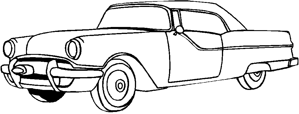 Old School Cars Coloring Pages