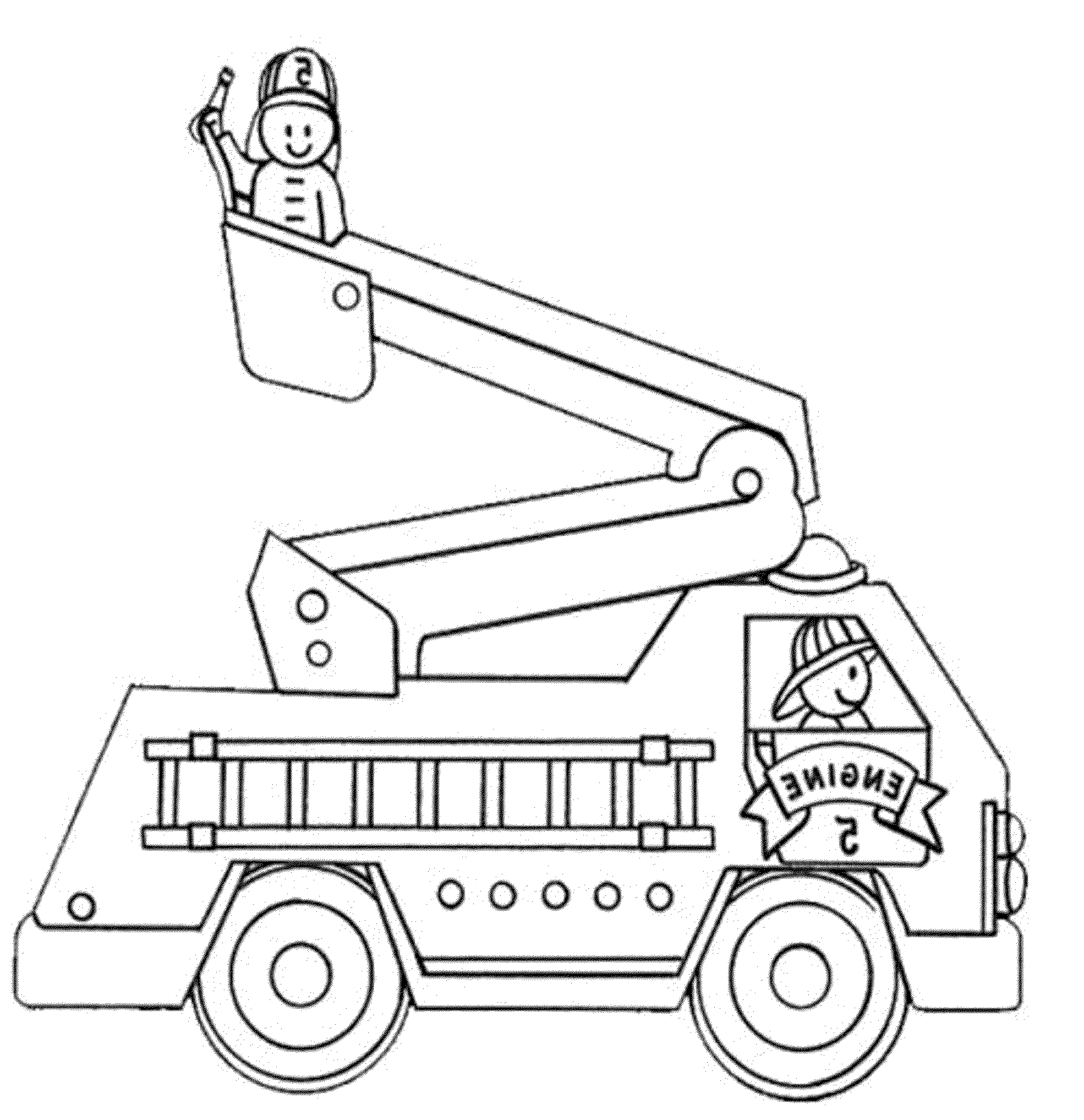 Print & Download Educational Fire Truck Coloring Pages Giving