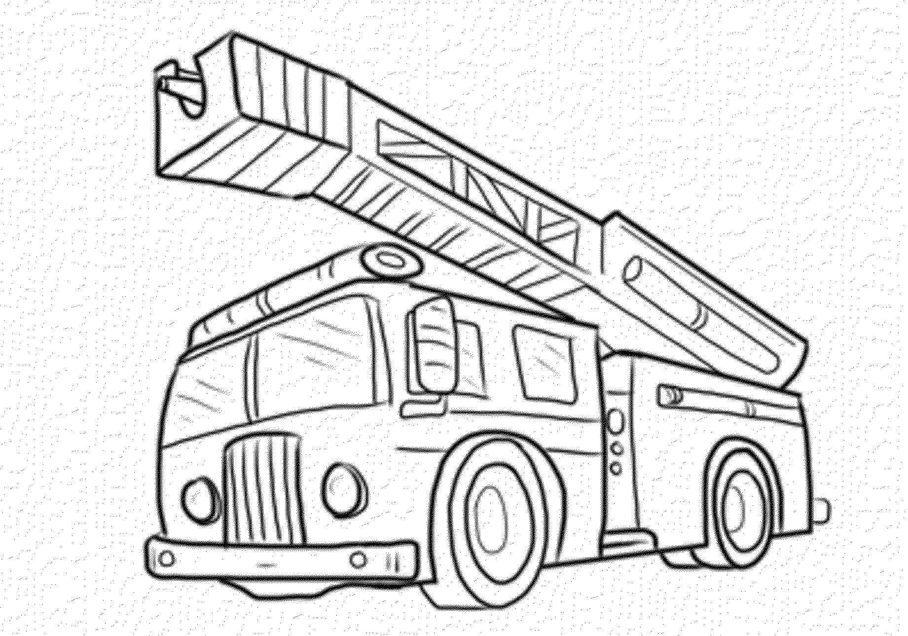 coloring pages fire trucks preschool