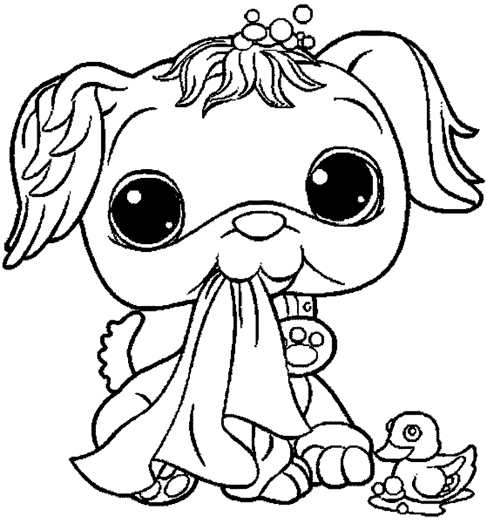 Littlest pet coloring pages games coloring page for Littlest pet shop coloring pages dog