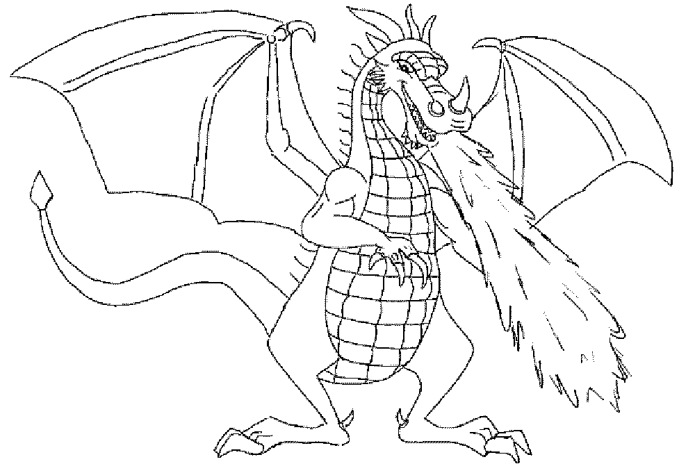 coloring pages of dragons - Dragons Coloring Pages