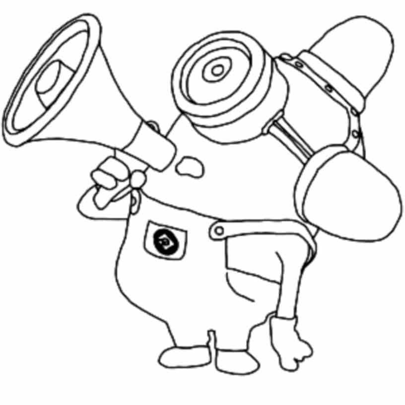 Fun coloring pages minions rocking ~ Print & Download - Minion Coloring Pages for Kids to Have ...