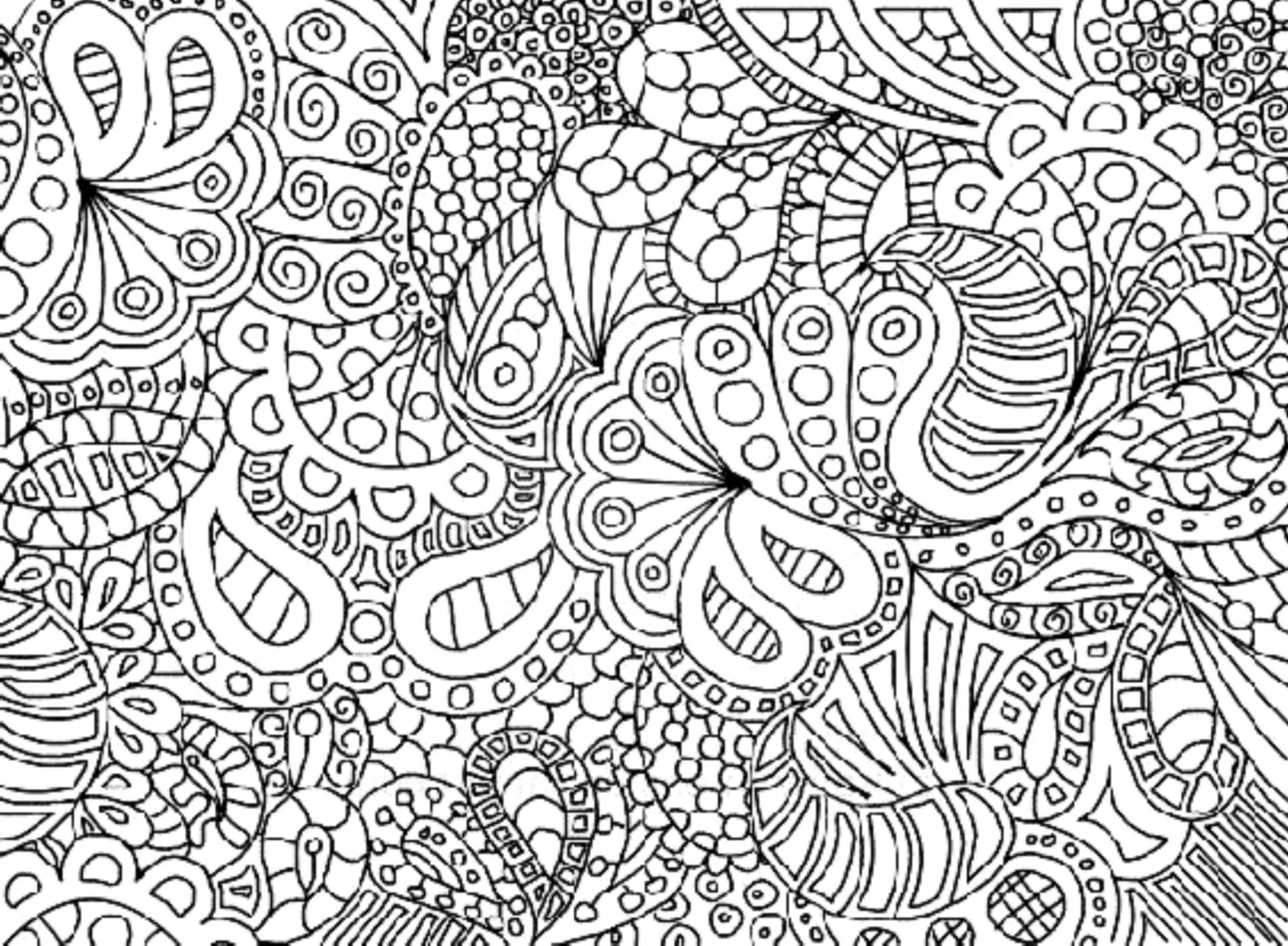 complex coloring pages online - photo#1