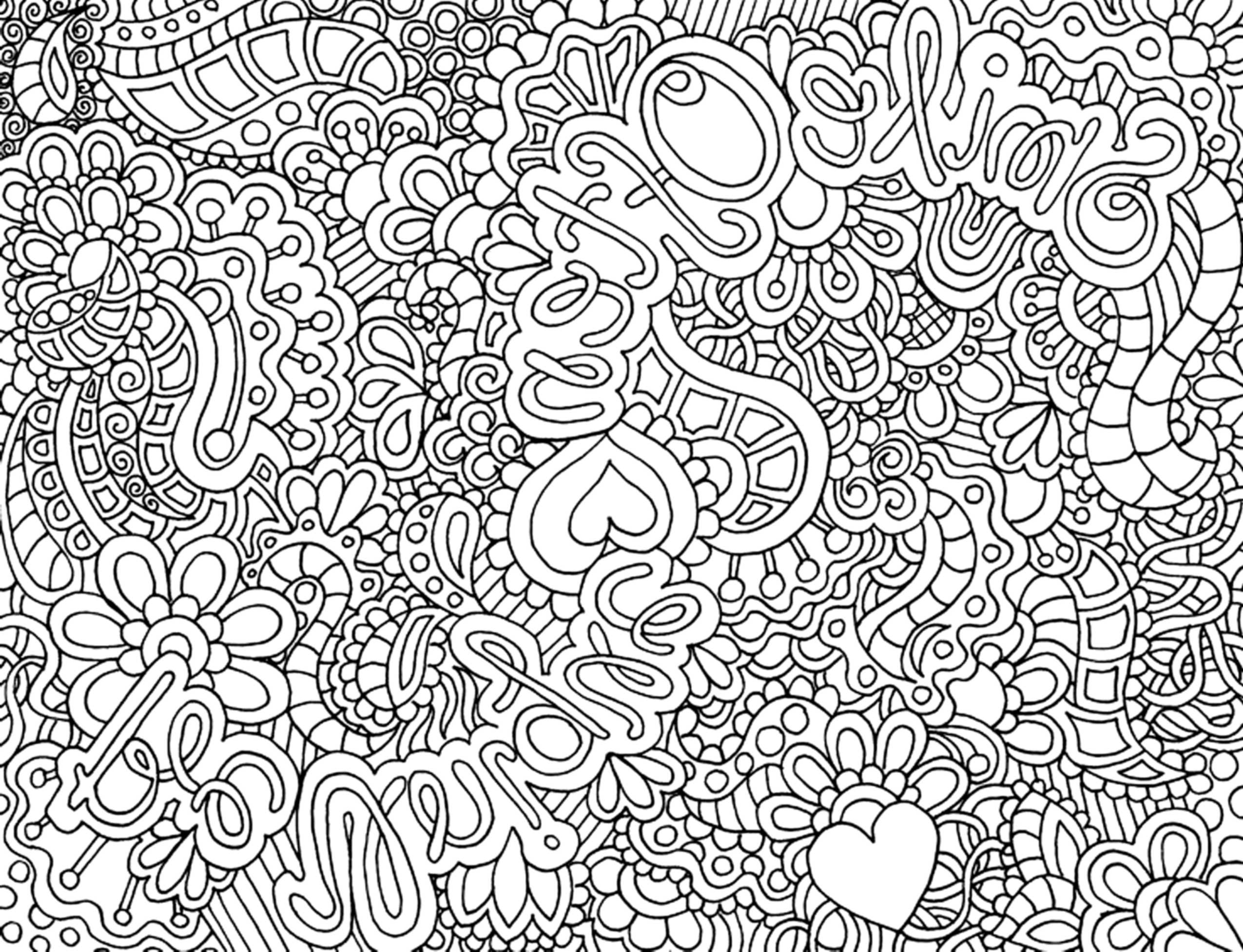 complex coloring pages online - photo#5