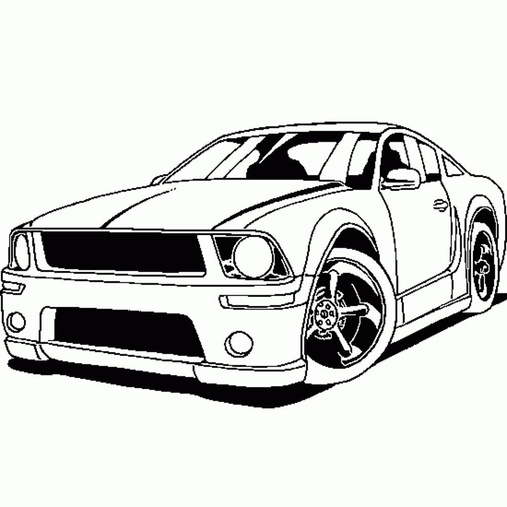 Kids Cars Coloring Pages