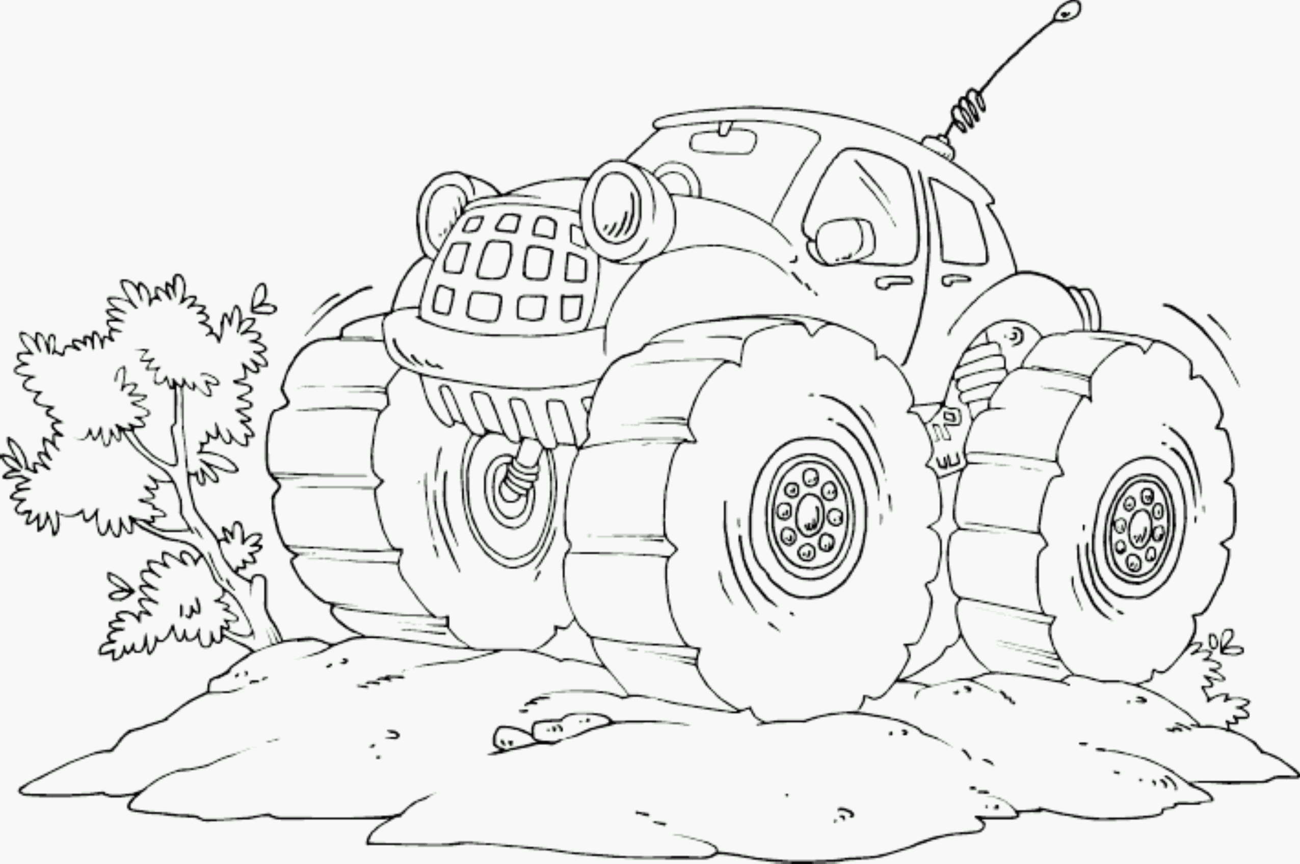 Cool Monster Truck Coloring Pages 1