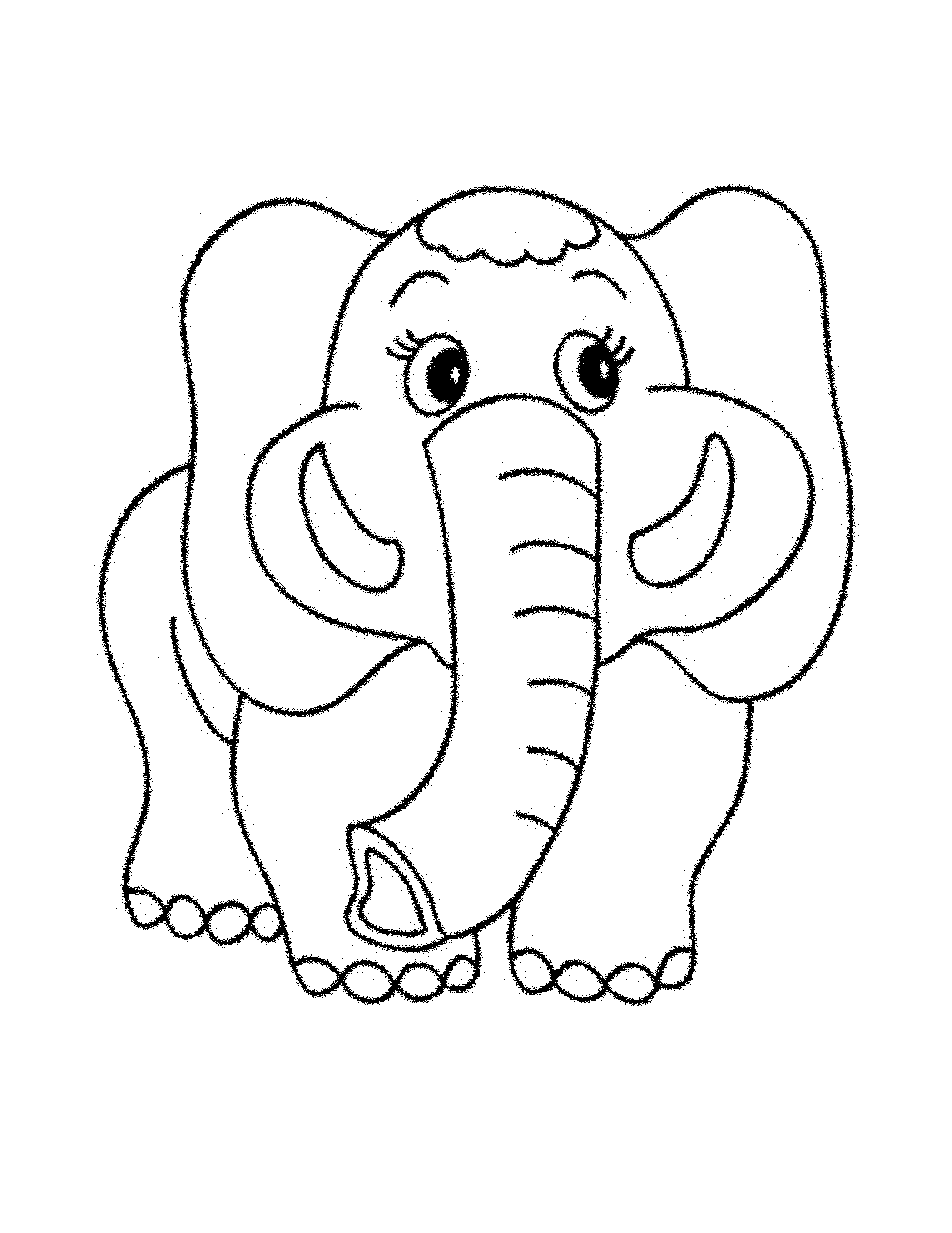 cuteelephantprintablecoloringpages
