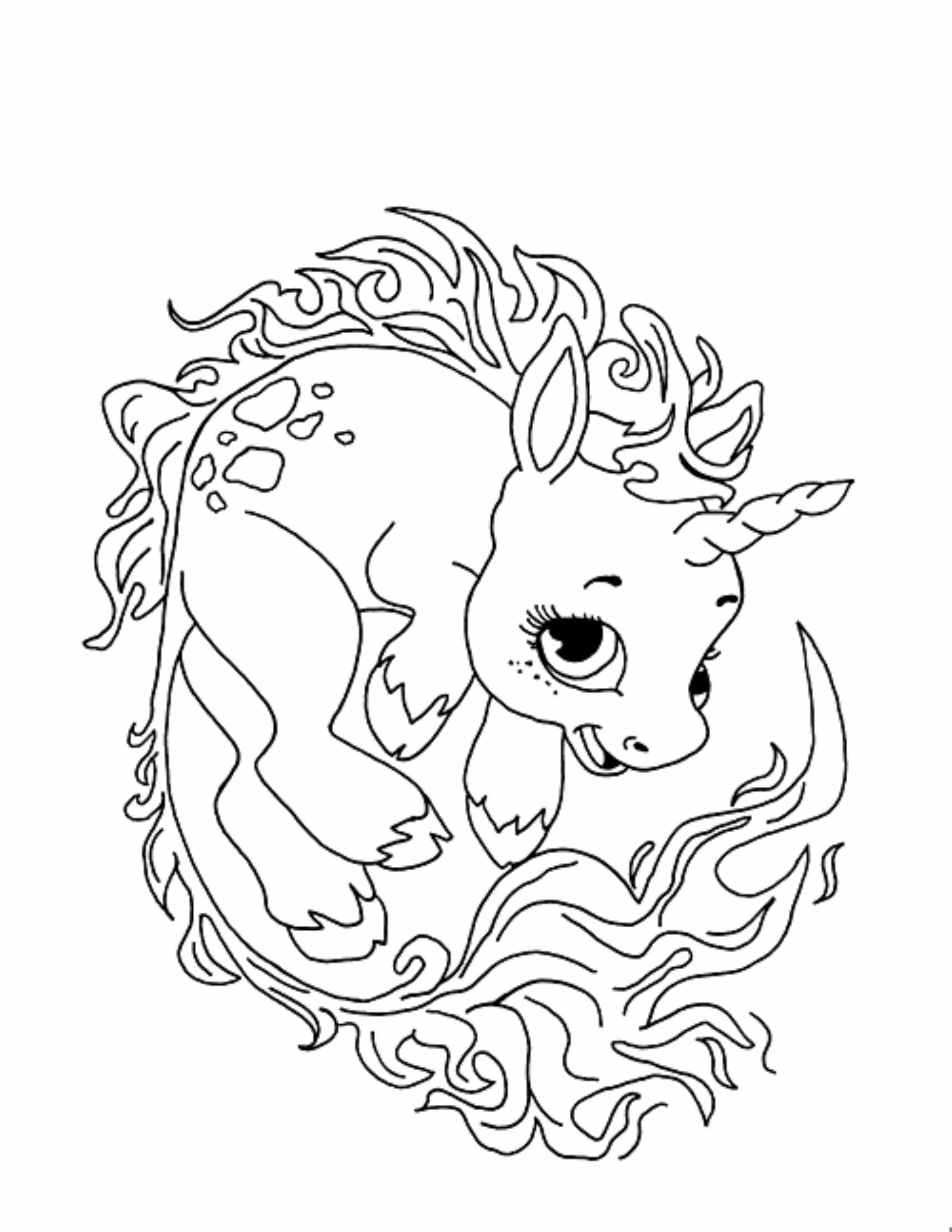 Print download unicorn coloring pages for children for Coloring pages that are cute