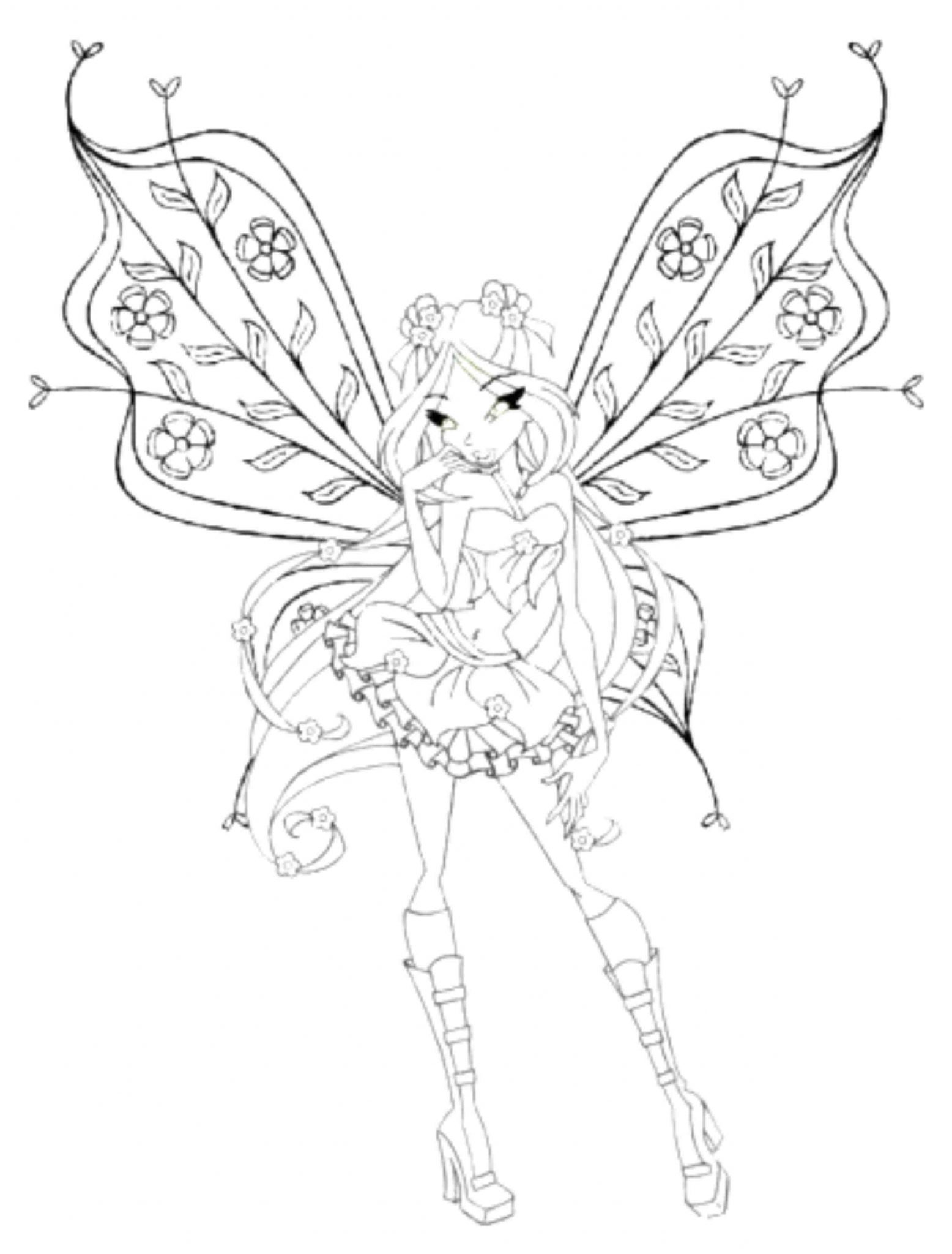 Cute Winx Club Coloring Pages