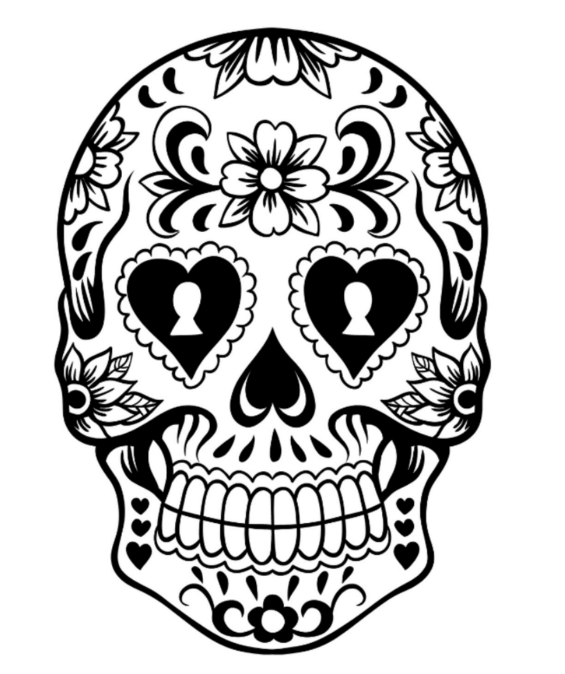 shop related products - Sugar Skull Coloring Page