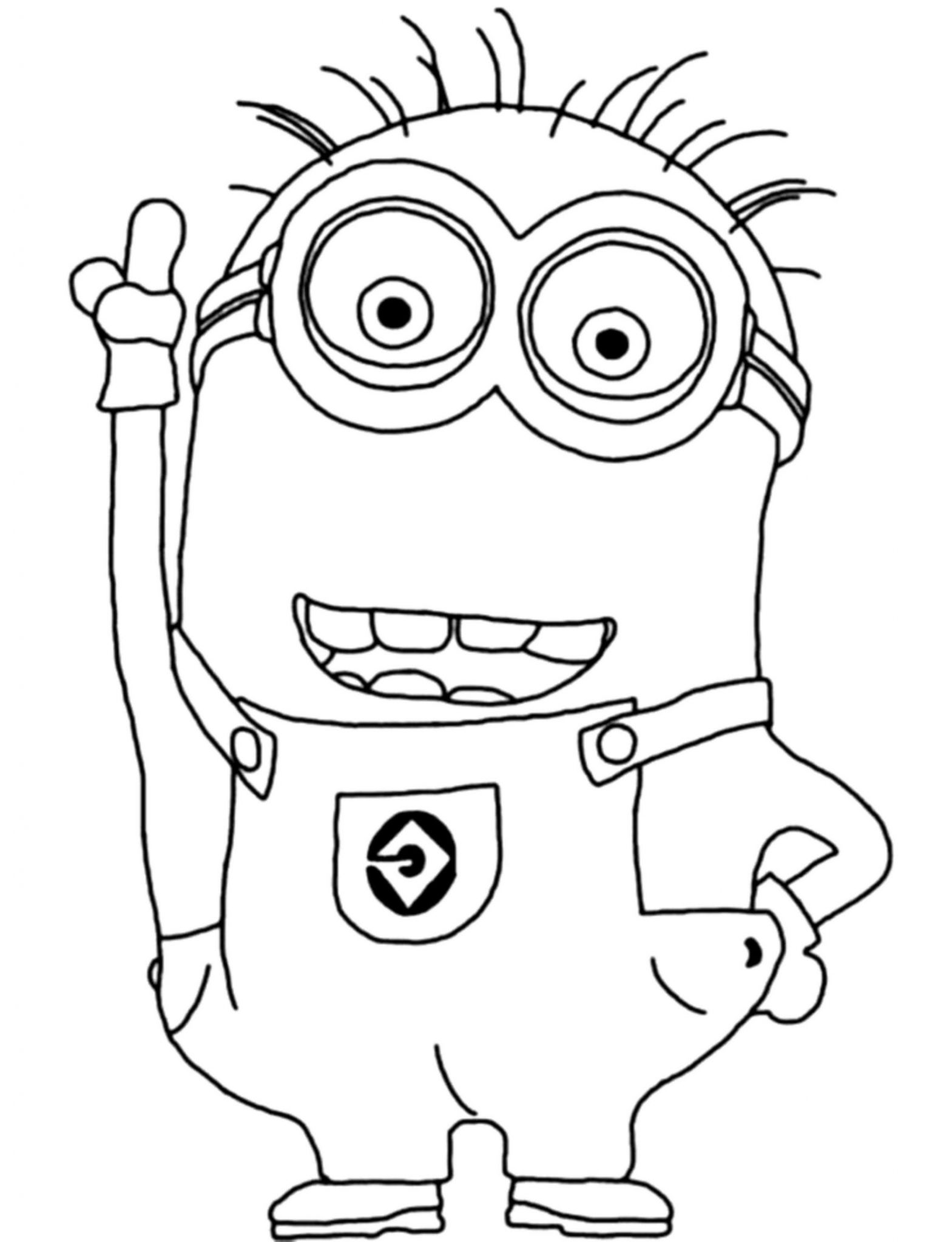 despicable me coloring pages minions kevin BestAppsForKidscom