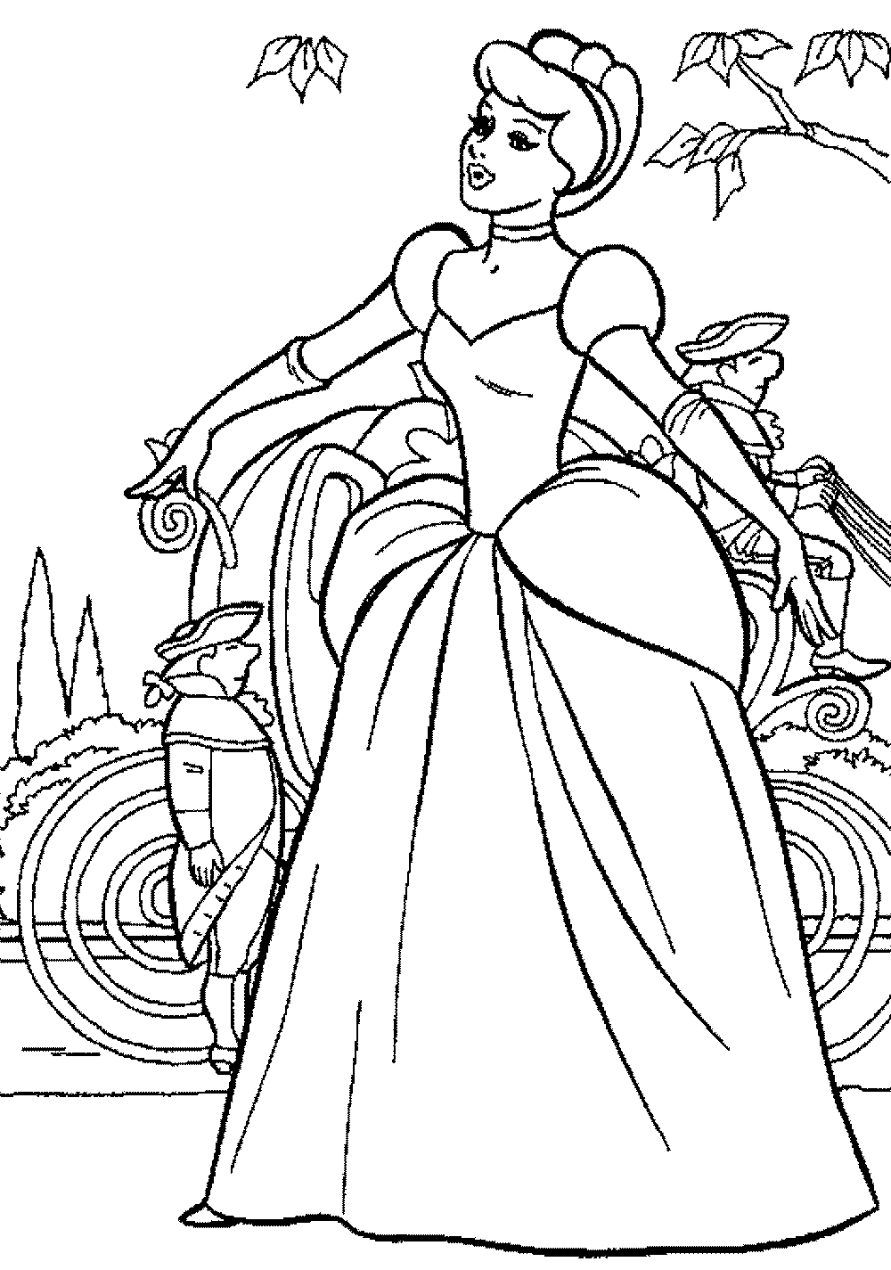 disney cinderella coloring pages - Cinderella Coloring Pages