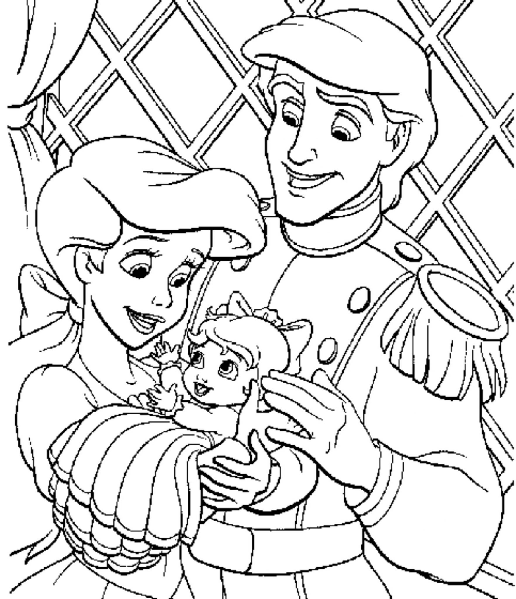 Print Download Princess Coloring Pages Support The Child S Activity