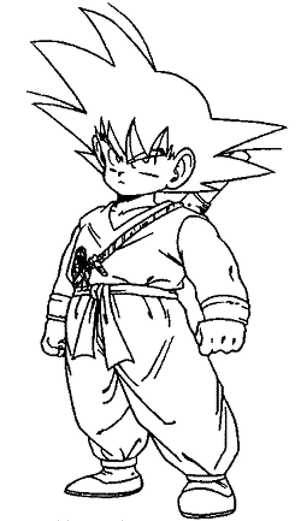 Dragon ball z coloring pages little goku for Dbz coloring pages goku