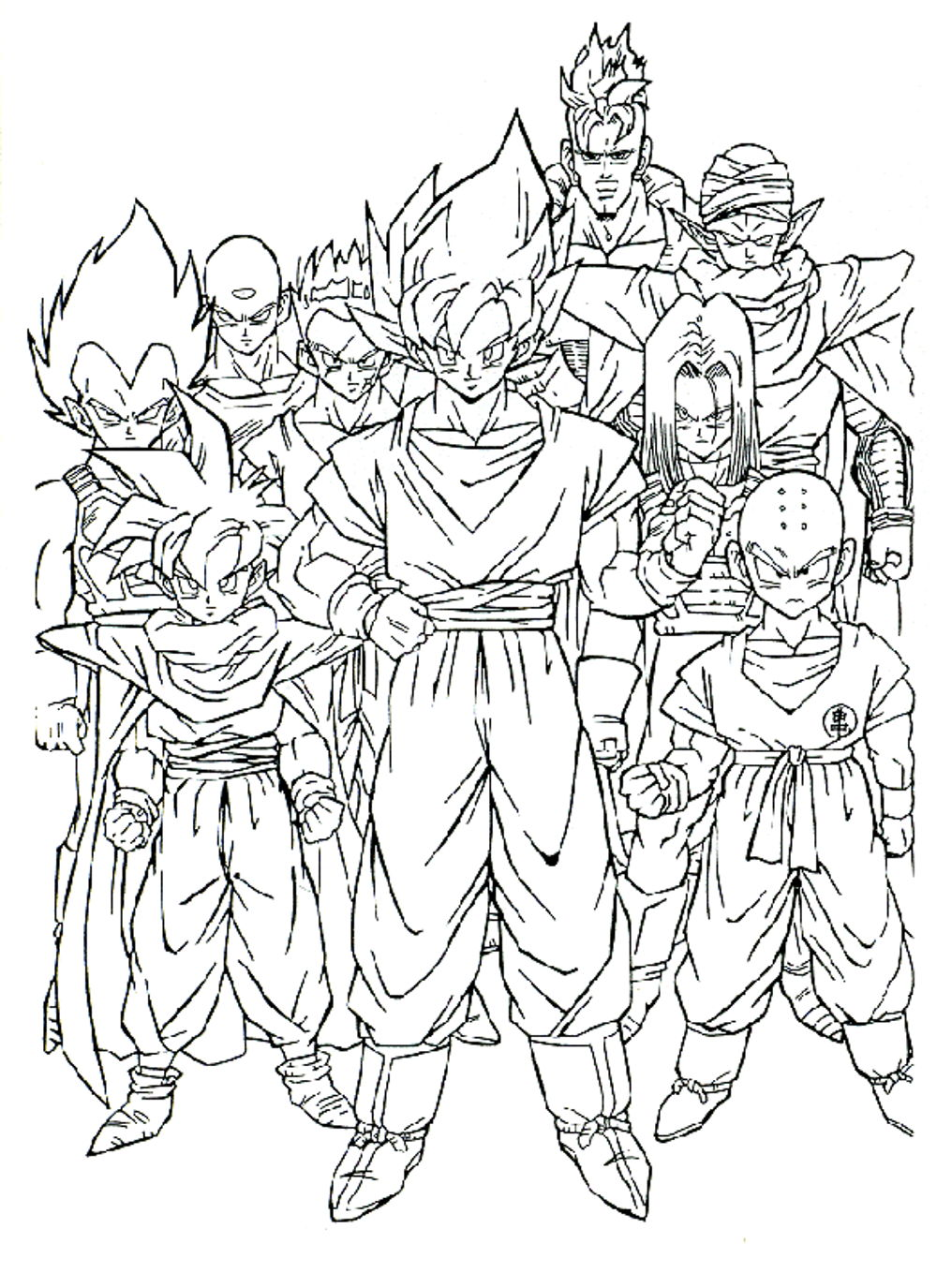 dragon ball z coloring pages printable - Coloring Page Dragon