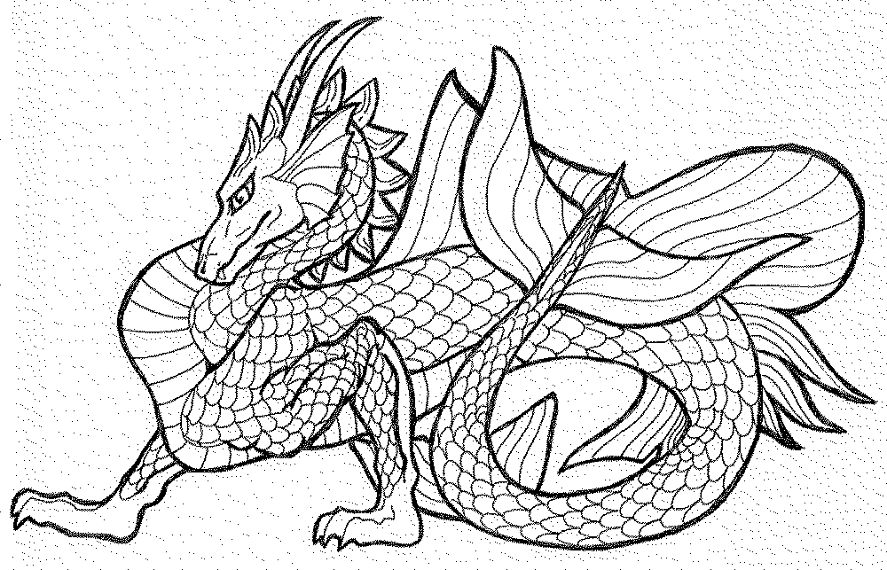 Dragon Coloring Pages For Adults Bestappsforkids Com