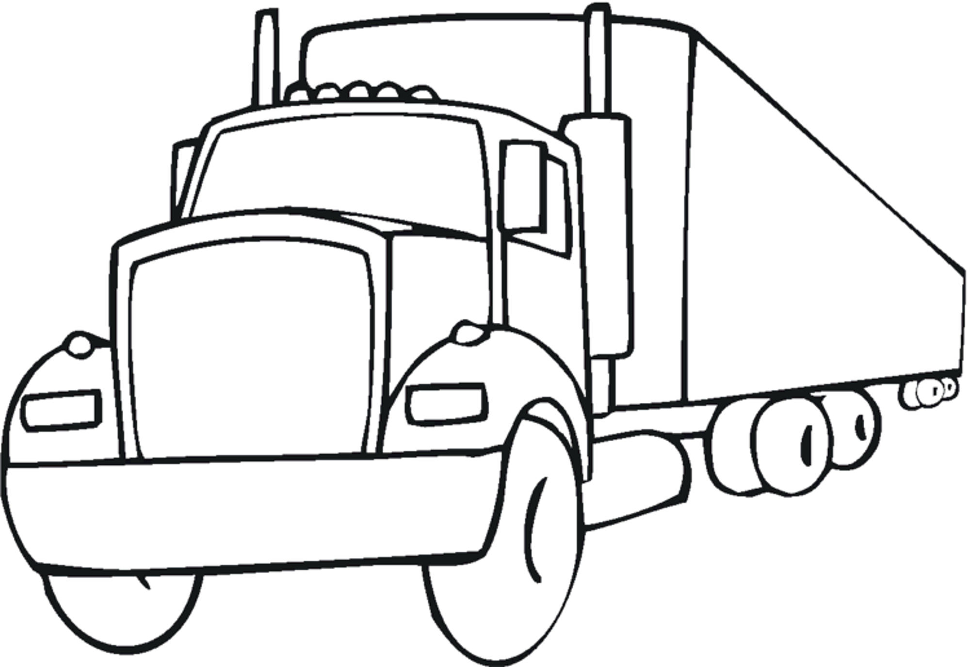 Easy Fire Truck Coloring Pages