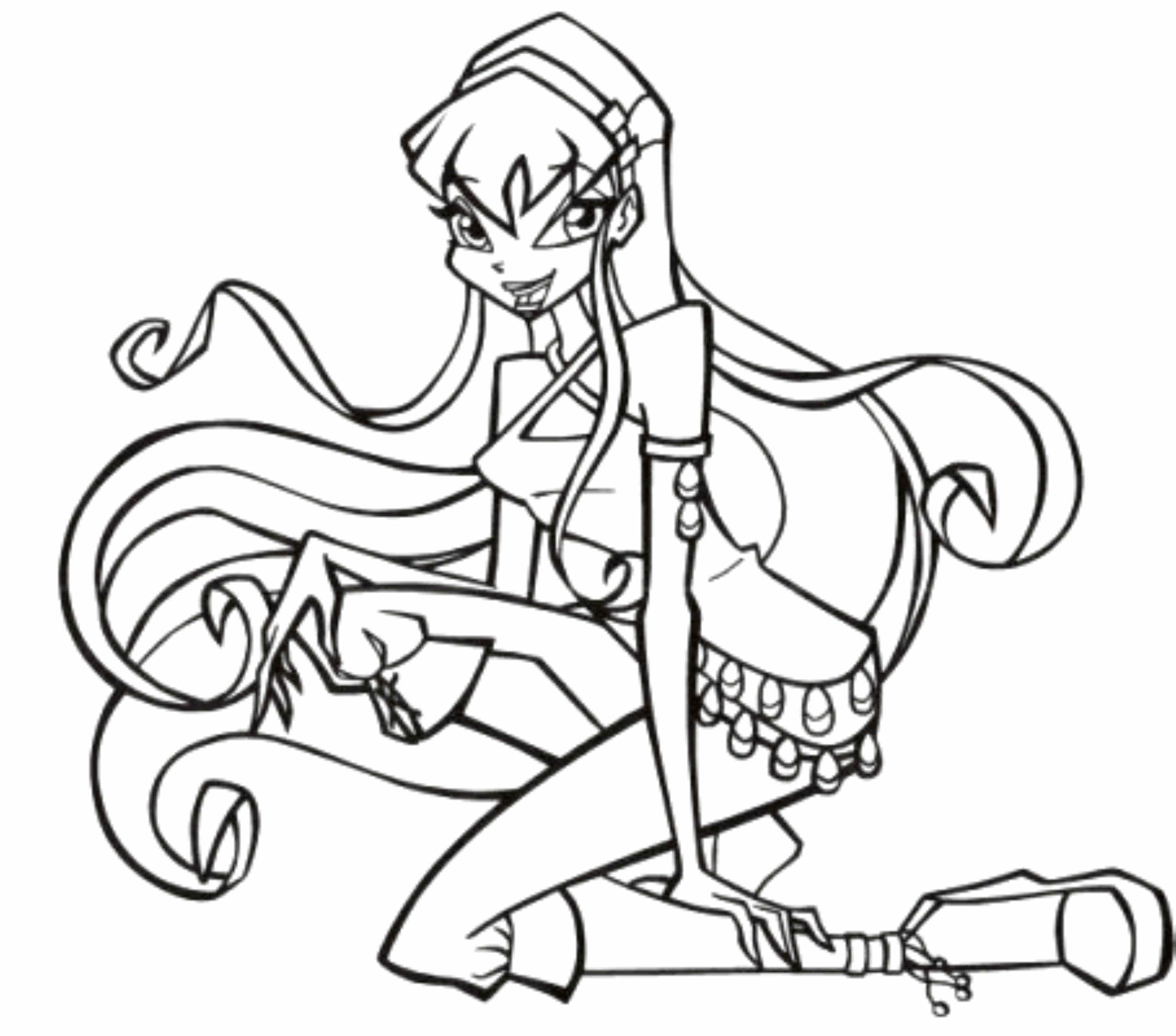 easy winx club coloring pages BestAppsForKidscom