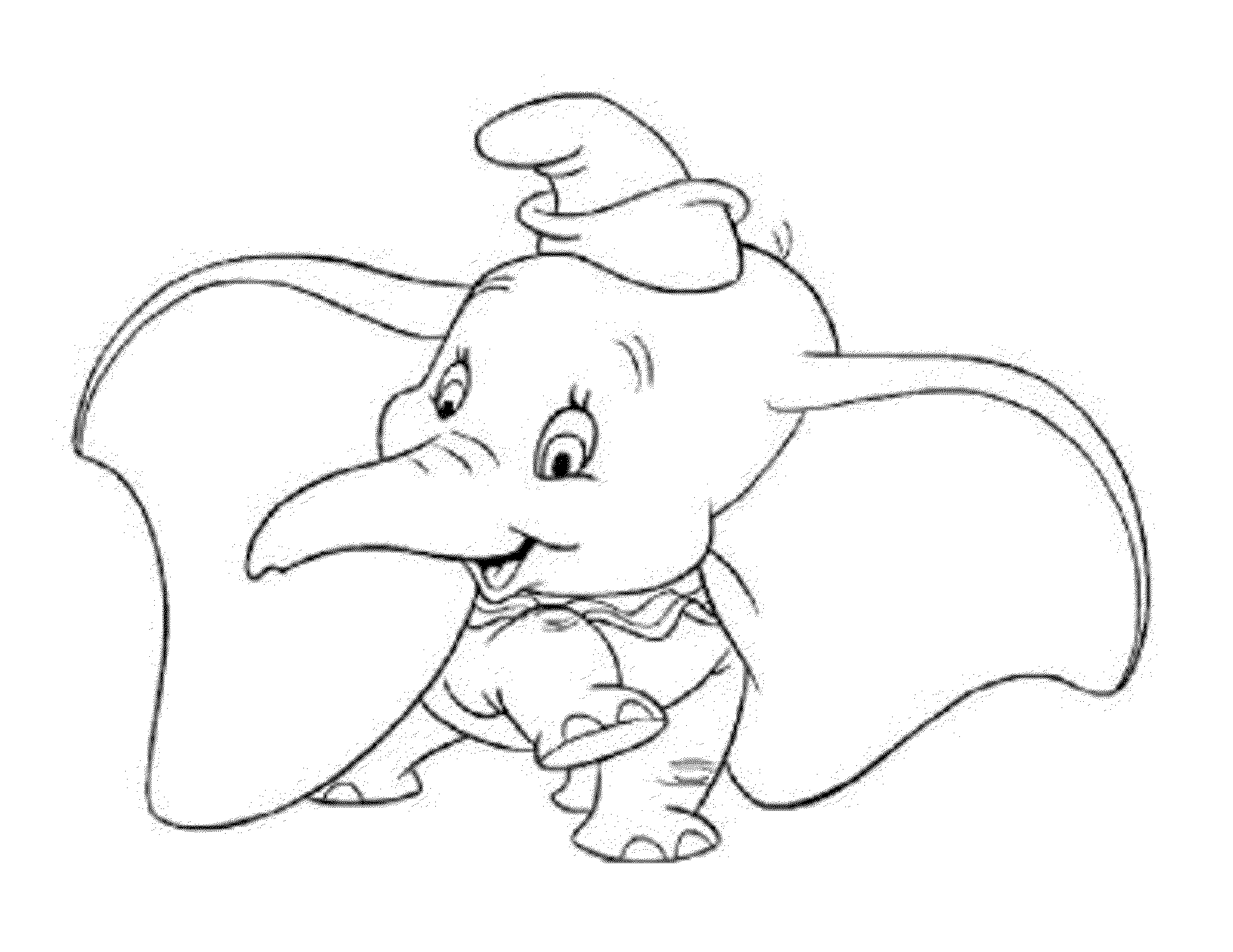 elephant color page - Dumbo Elephant Coloring Pages