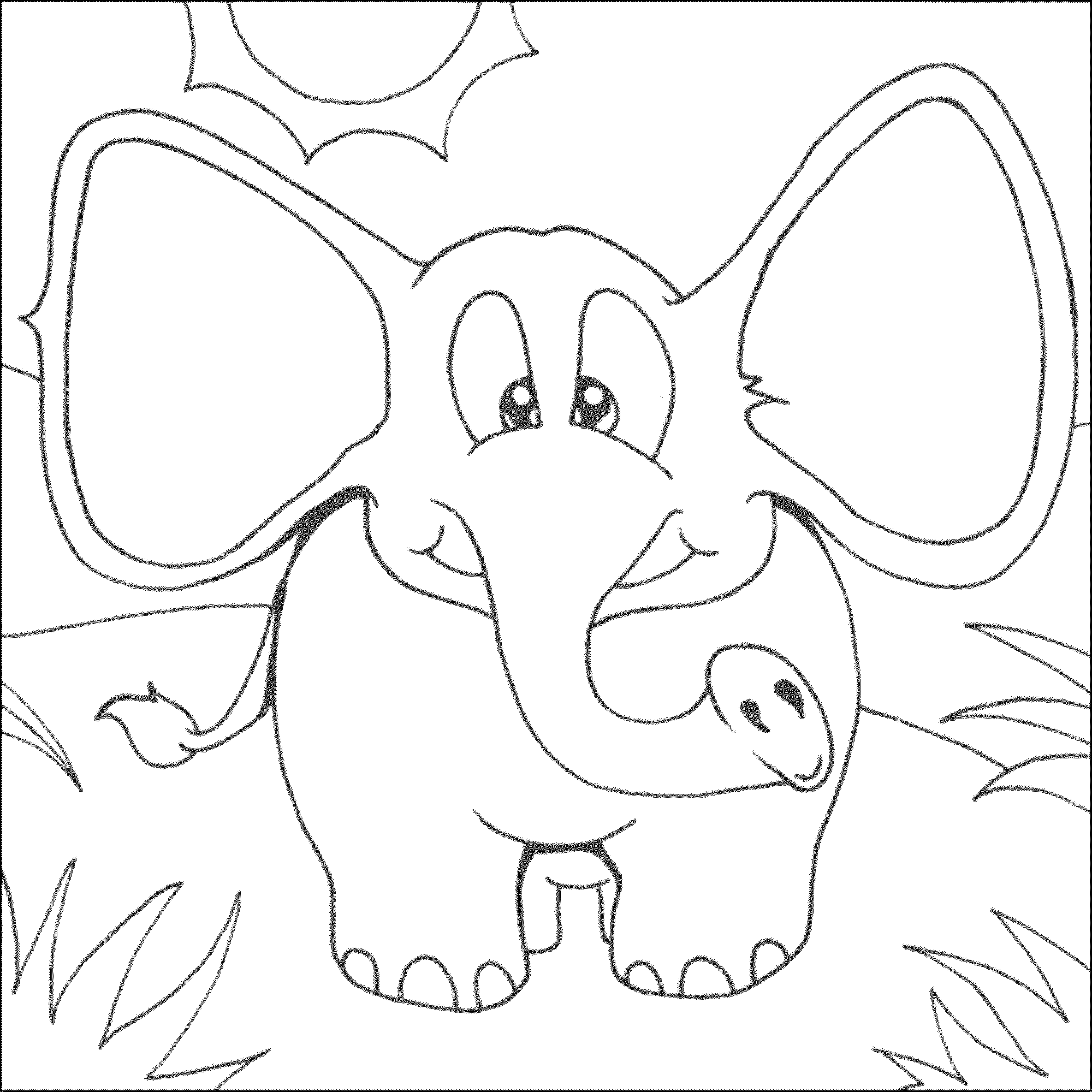elephant color pages - Elephant Pictures To Color