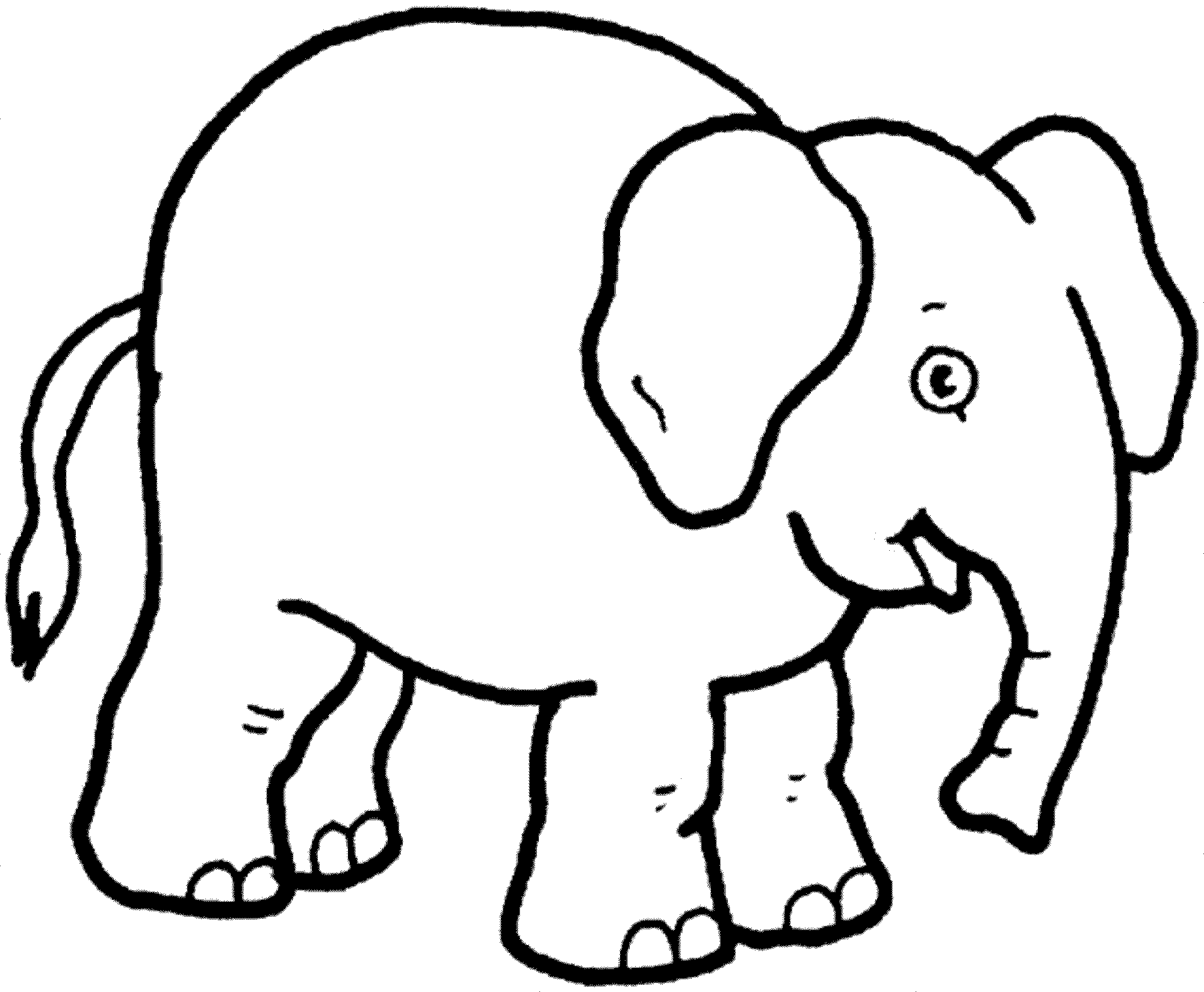 free coloring pages of elephant - photo#48