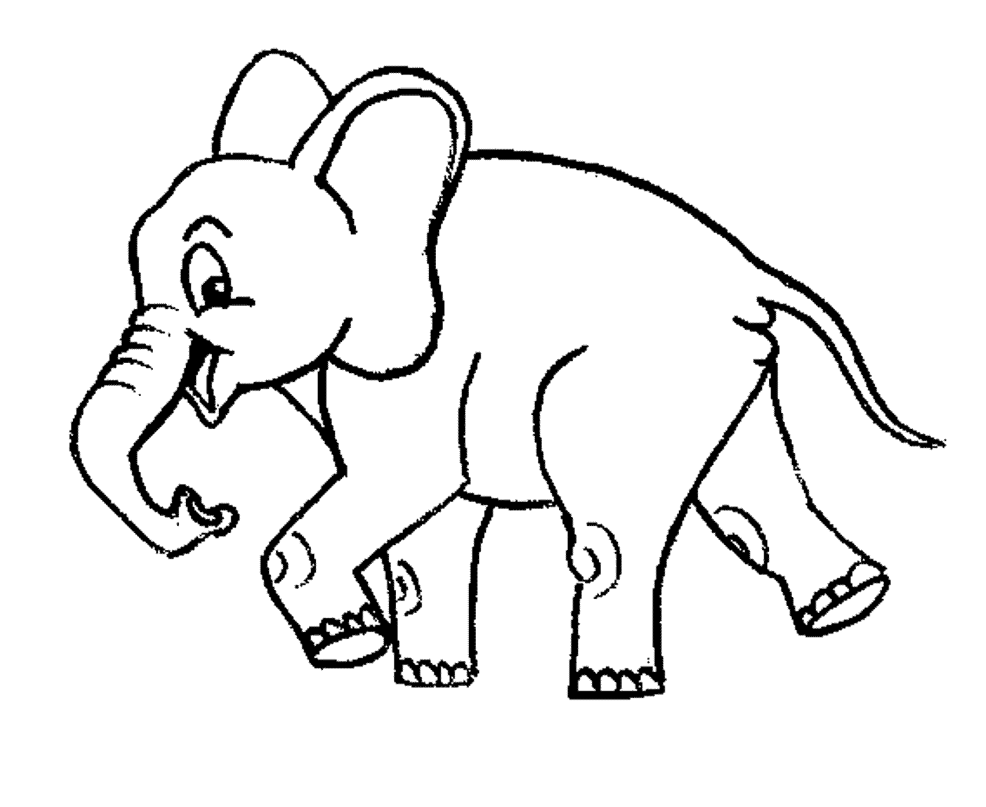 elephant coloring pages printable - Coloring Page Elephant Design