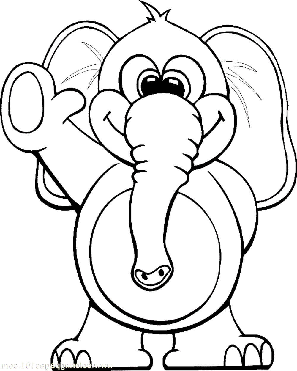 Print download teaching kids through elephant coloring for Elephant coloring pages