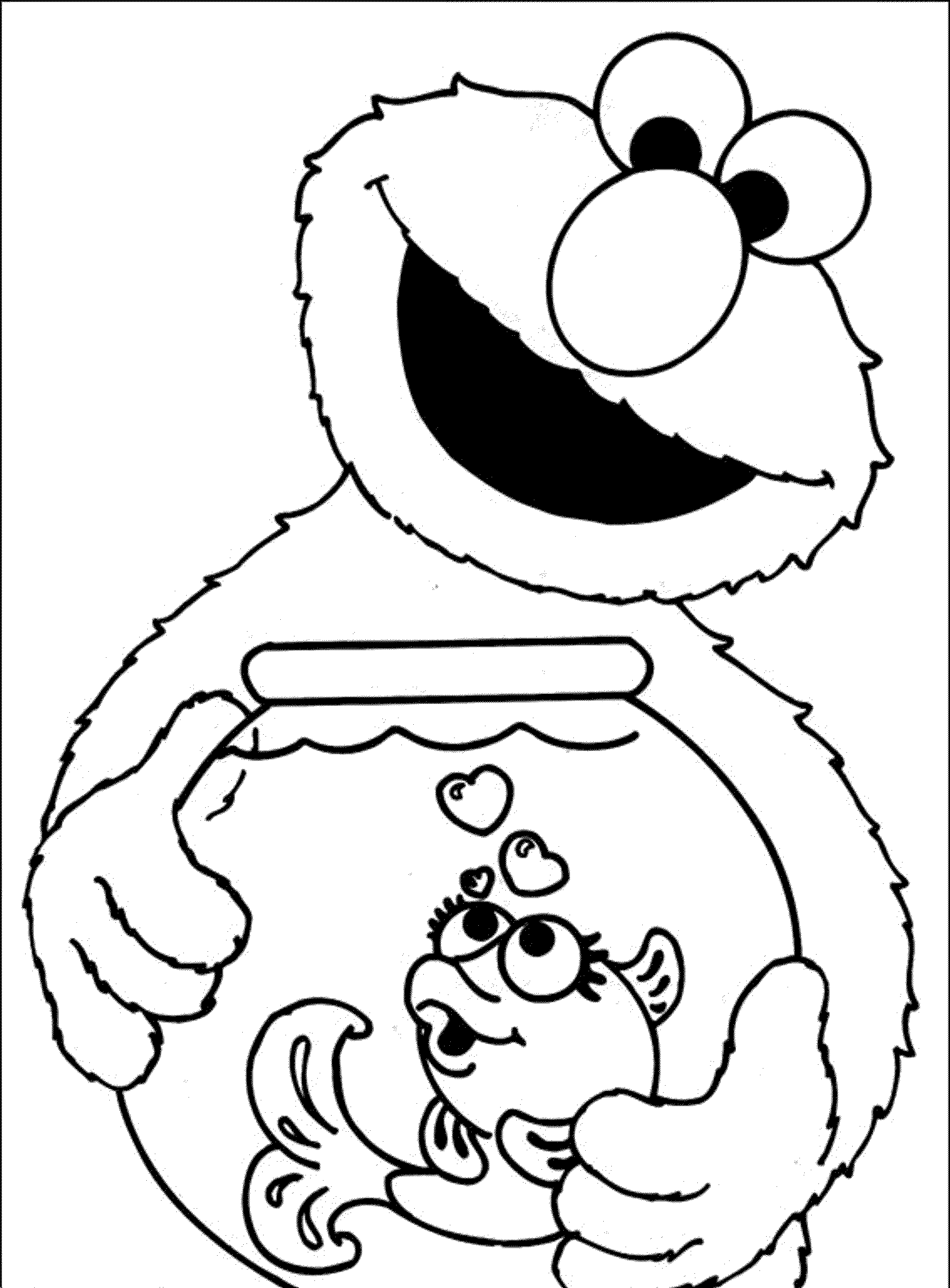 Print Download Elmo Coloring Pages For Children S Home Activity Free Coloring Pages For
