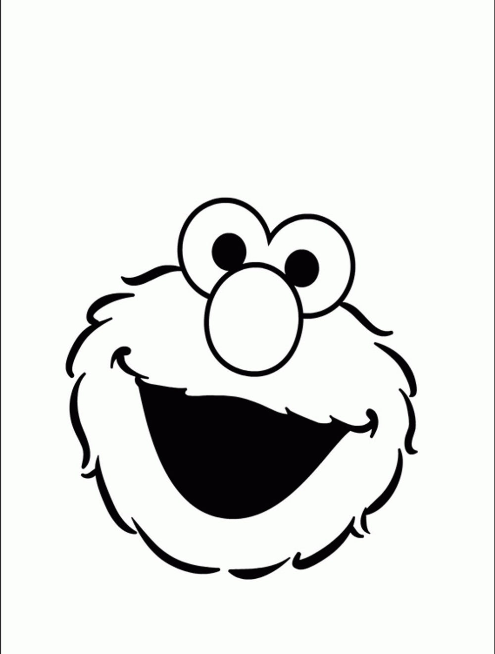 face of elmo colouring in pages to print - Cookie Monster Face Coloring Pages