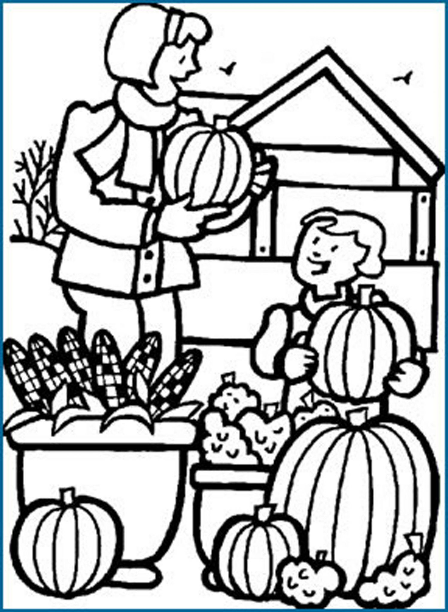 activity village coloring pages autumn - photo#14