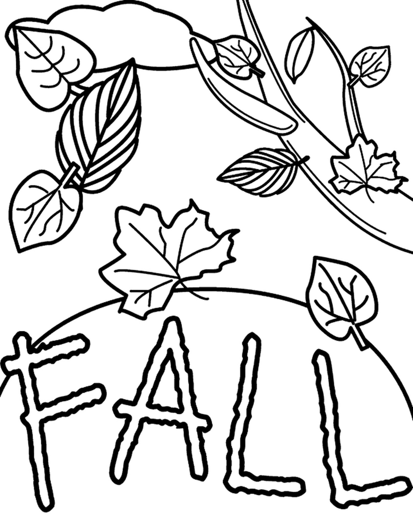 Fall Printable Coloring Sheets Leaves