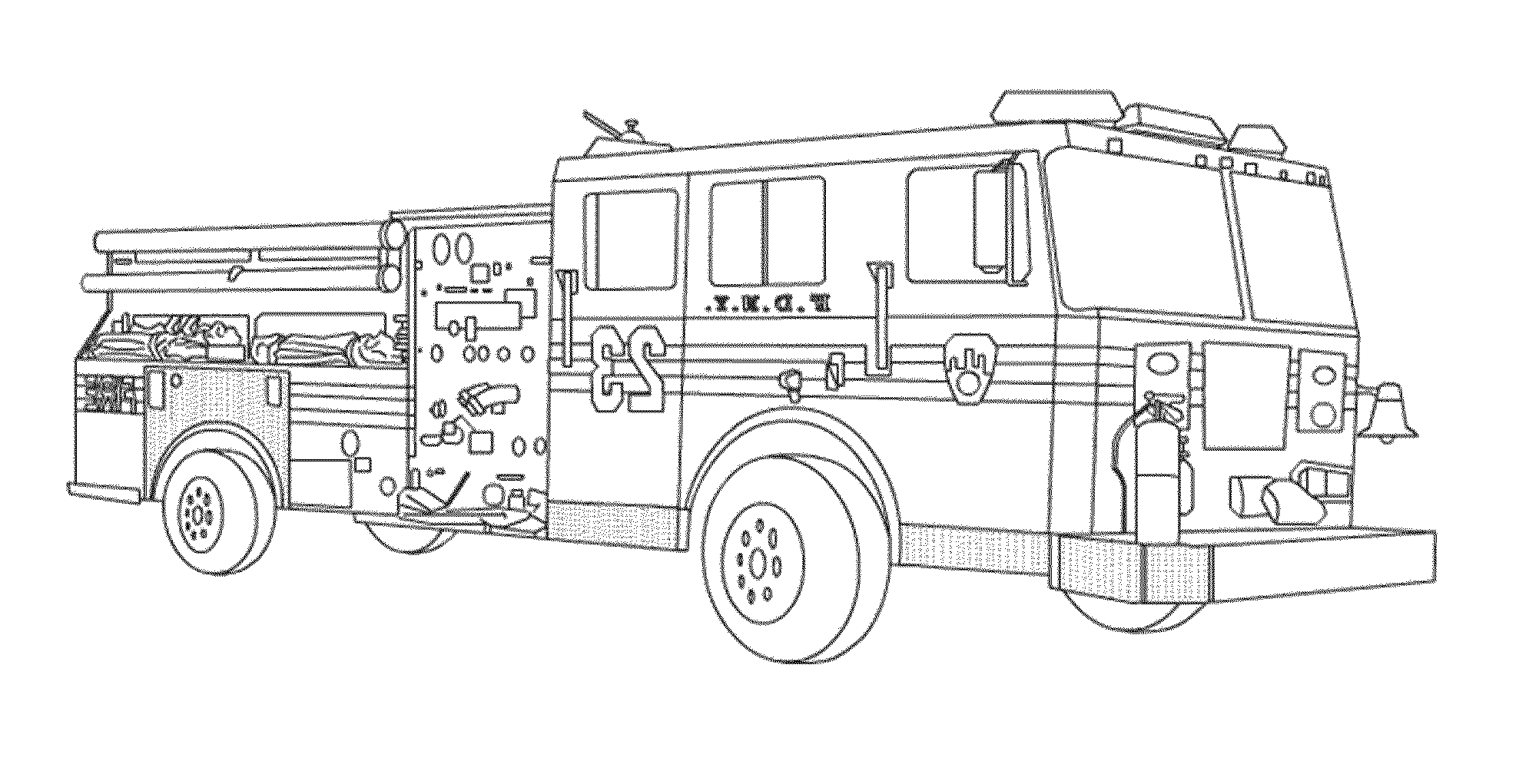 fire truck coloring pages to print - Coloring Pages Of Trucks