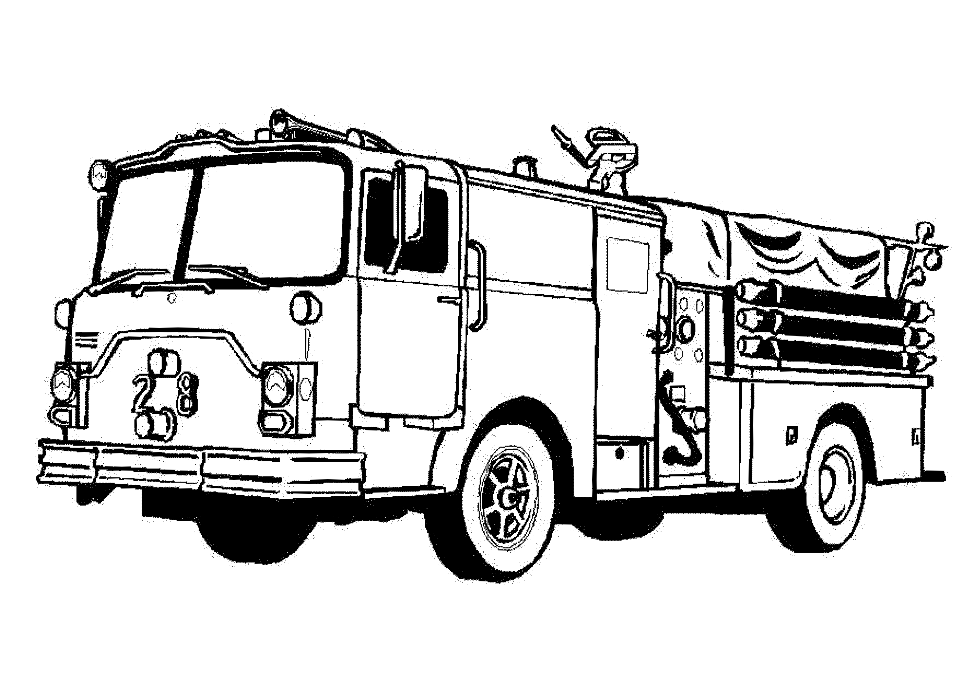 This is an image of Effortless Fire Truck Printable