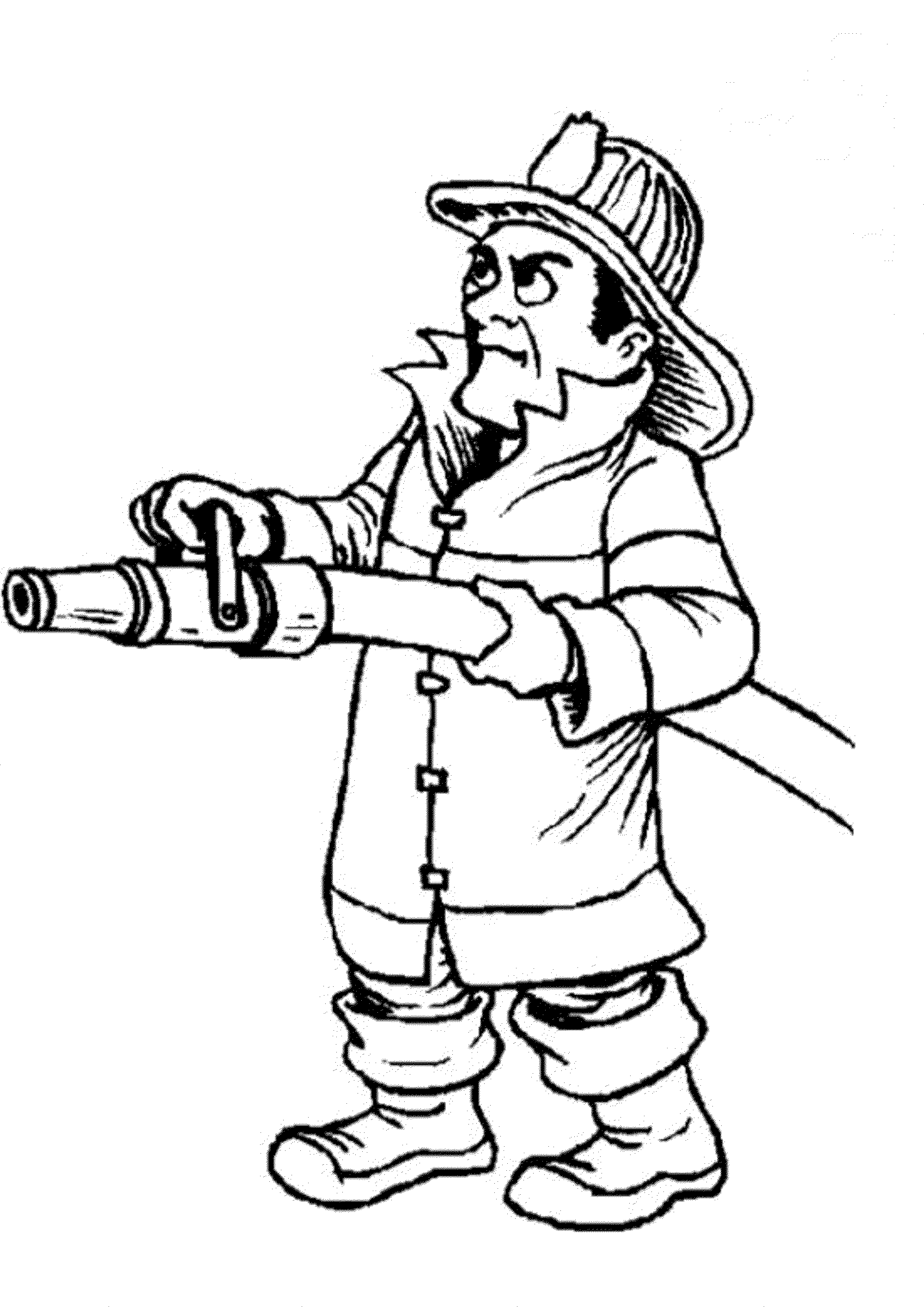 check - Fireman Coloring Pages