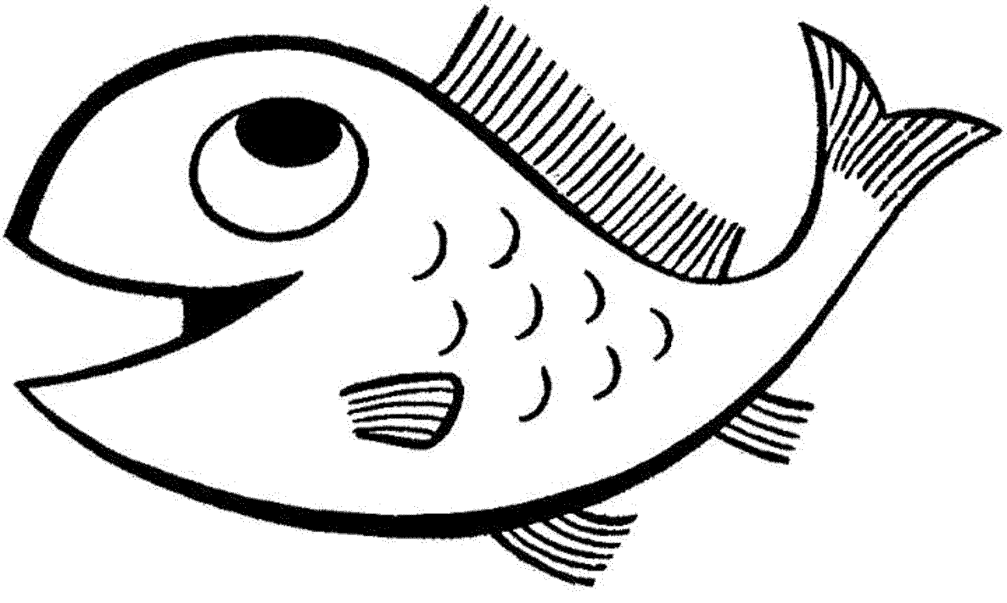 A Coloring Page Of Fish Coloring