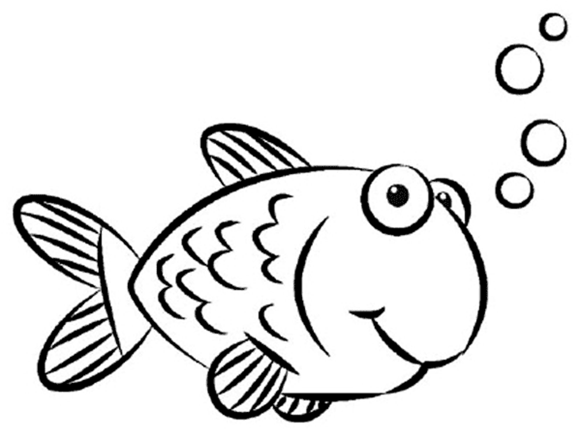 fish coloring pages for kids printable - Coloring Page Of Fish