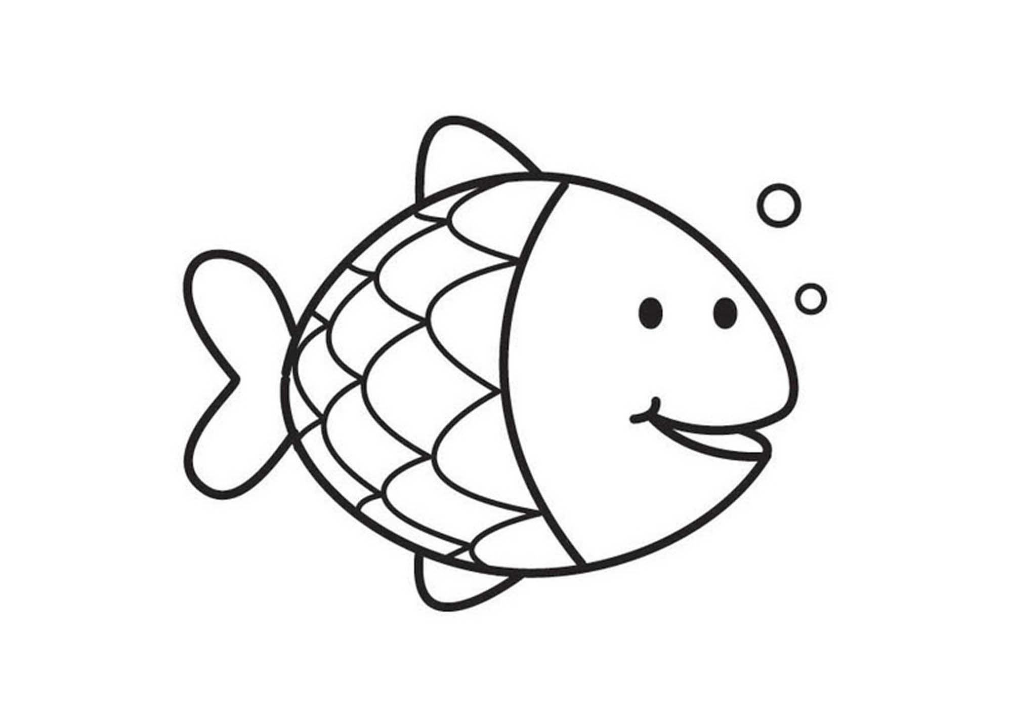 gallery of cute and educative fish coloring pages - Fishing Coloring Pages
